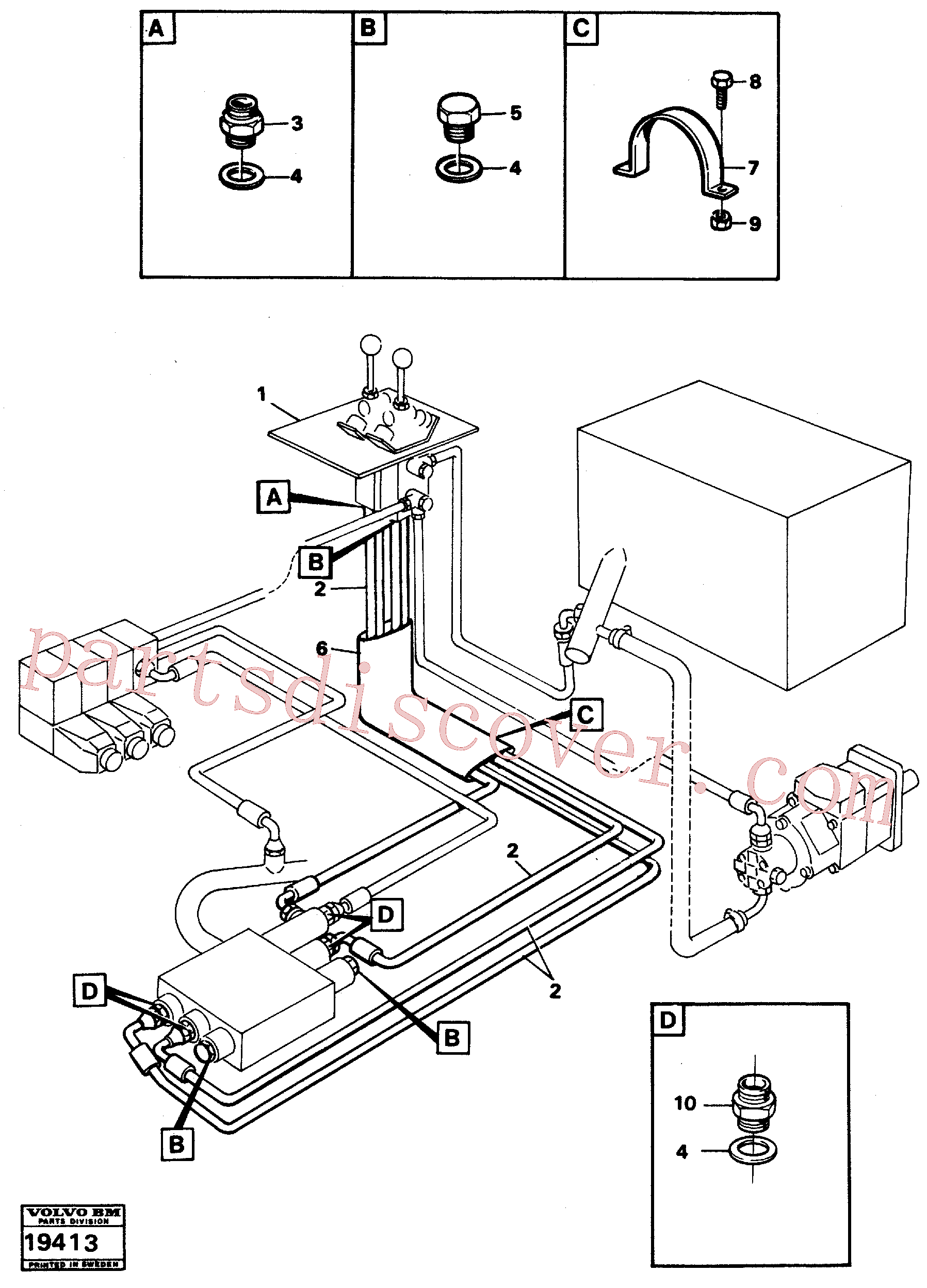 VOE13963958 for Volvo Control lines.(19413 assembly)