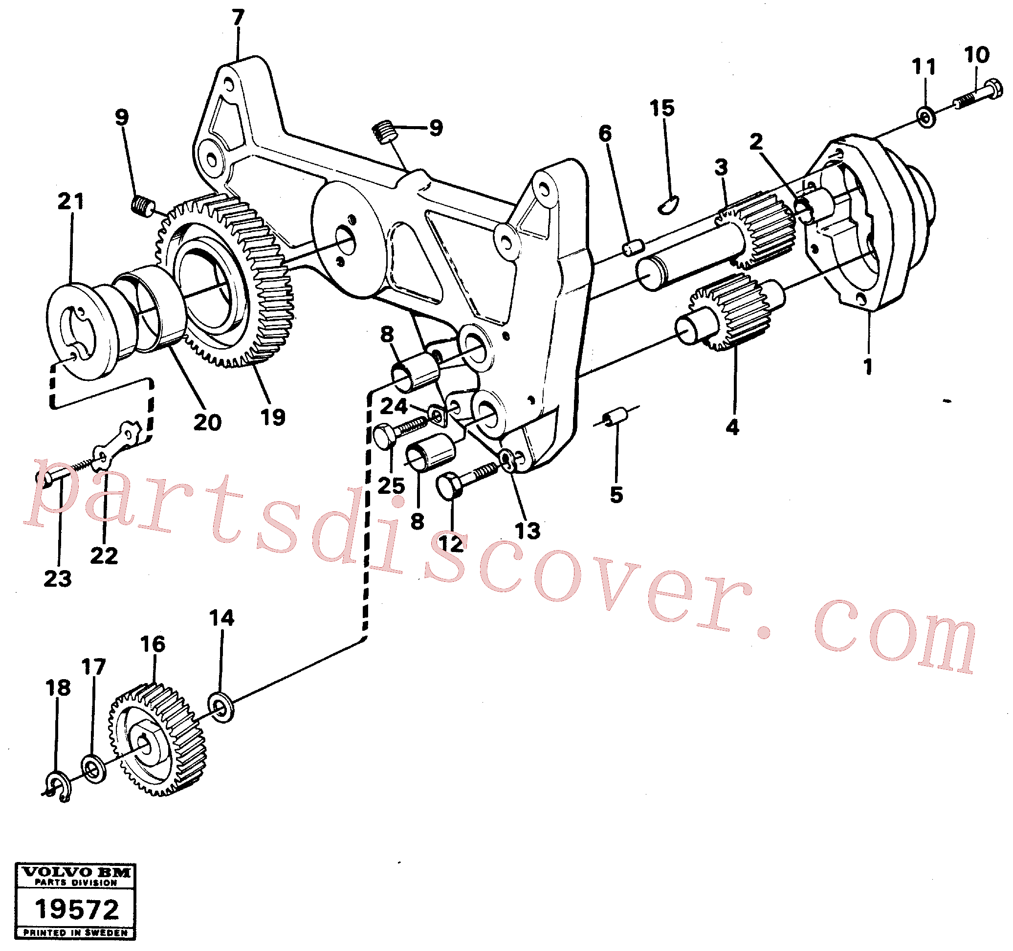 VOE914450 for Volvo Oil pump(19572 assembly)