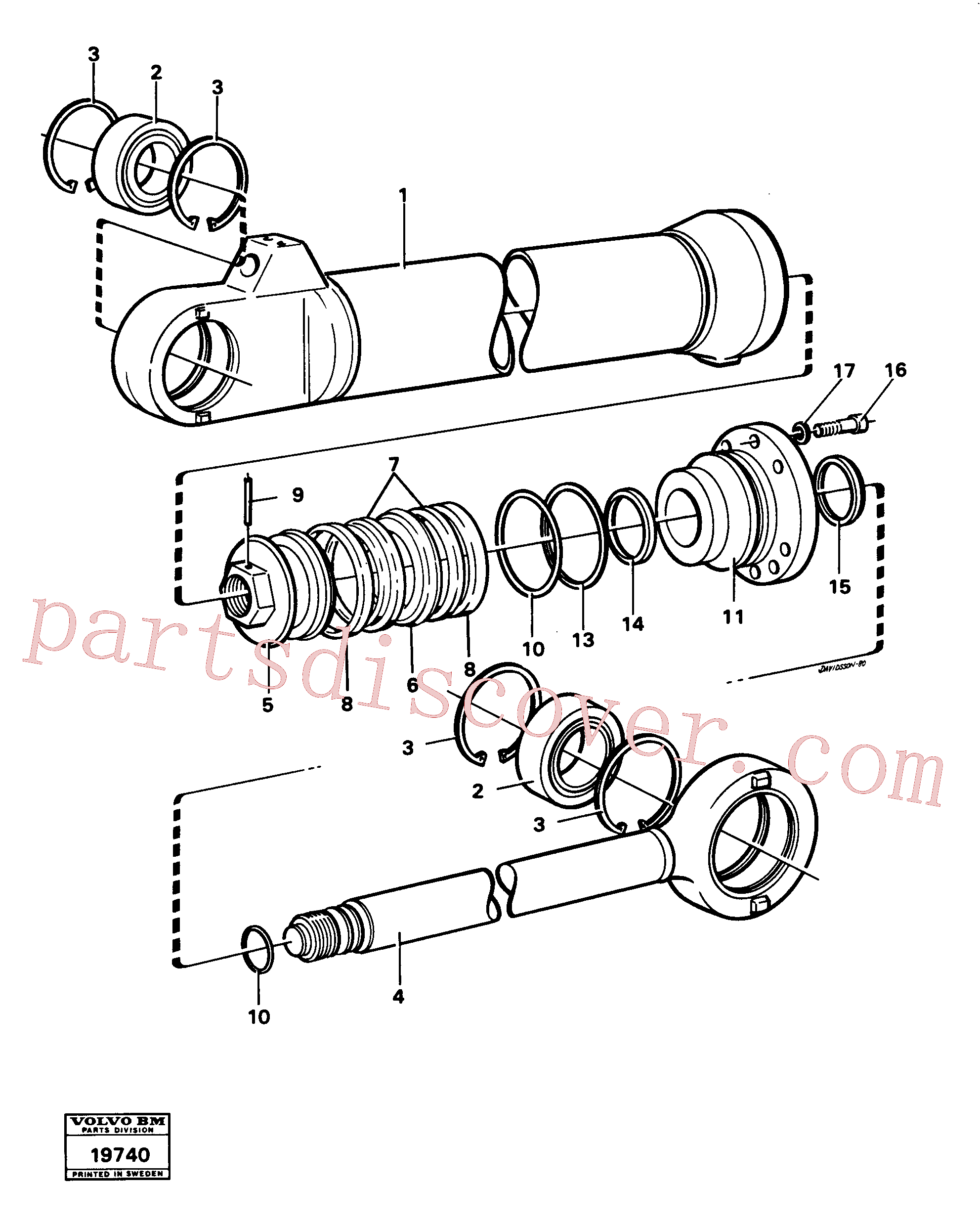 VOE4784134 for Volvo Hydraulic cylinder tilting(19740 assembly)