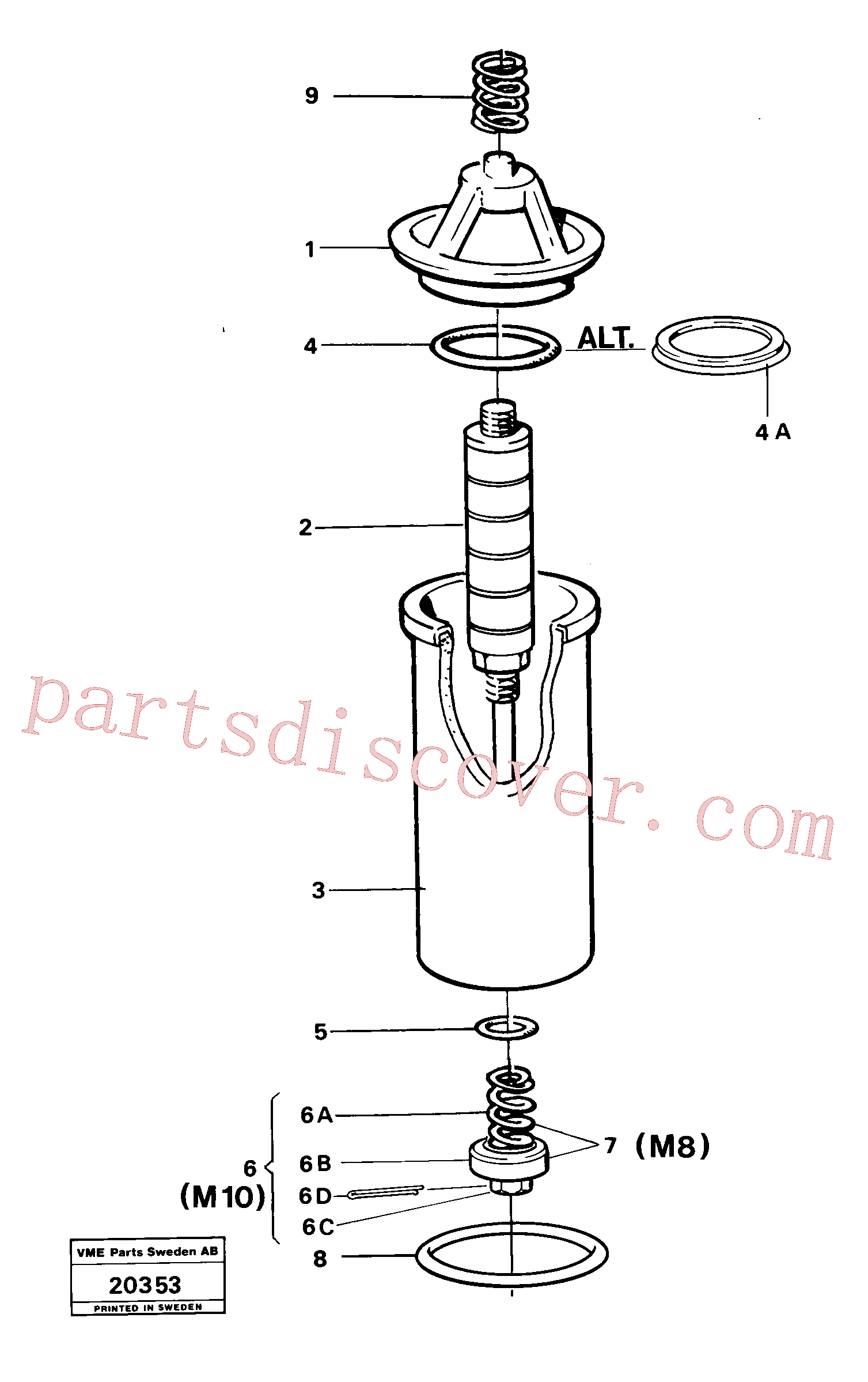 RM94146859 for Volvo Oil filter(20353 assembly)