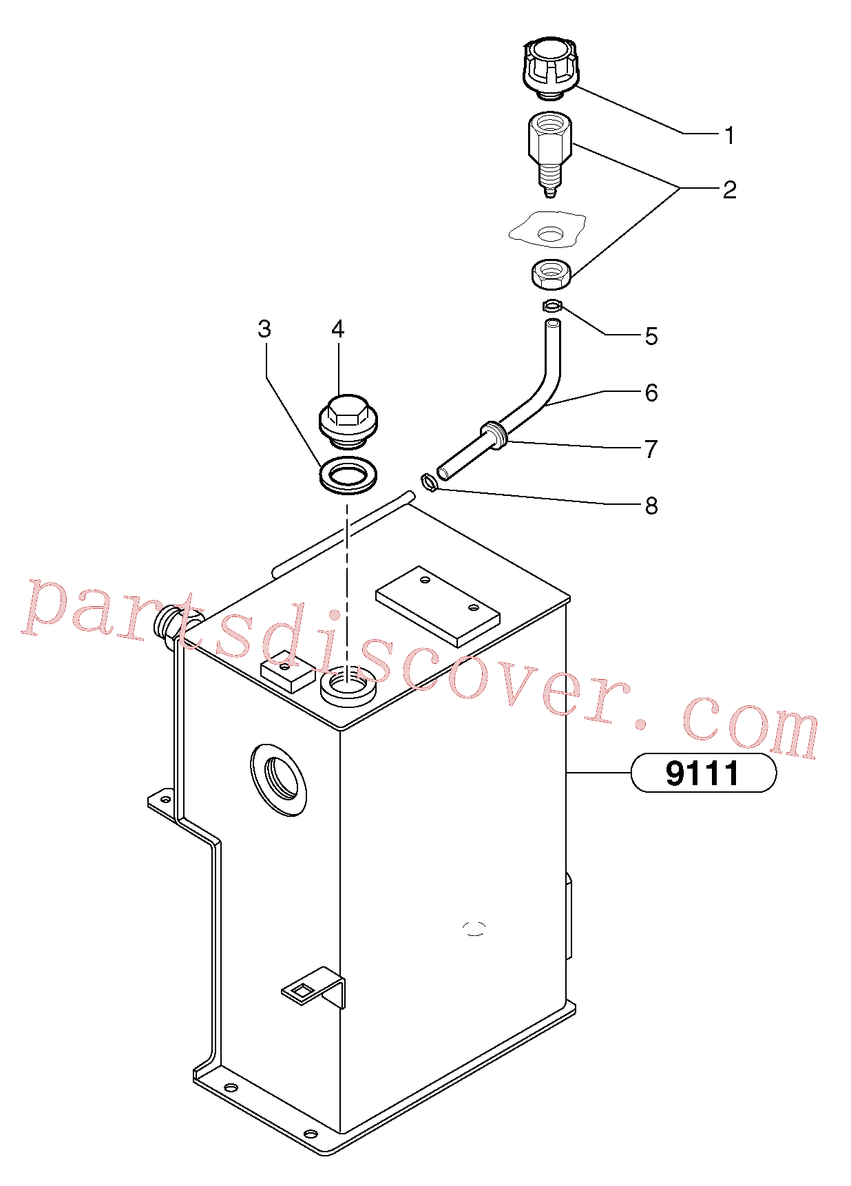 VOE11806426 for Volvo Lubrication oil filler and breather(9115X1 assembly)