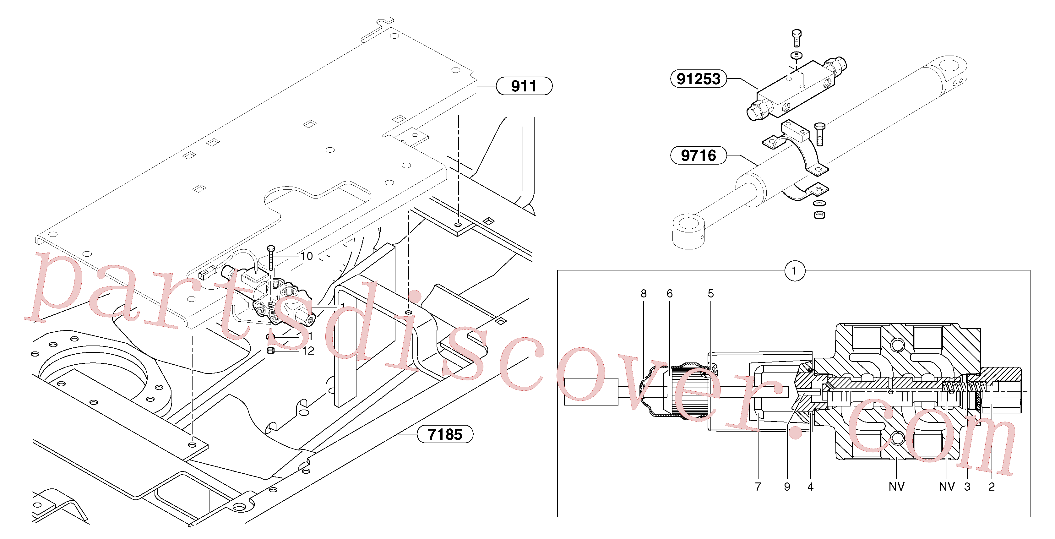 PJ7417496 for Volvo Slewing-offset selector switch ( for valve )(9124BY1 assembly)