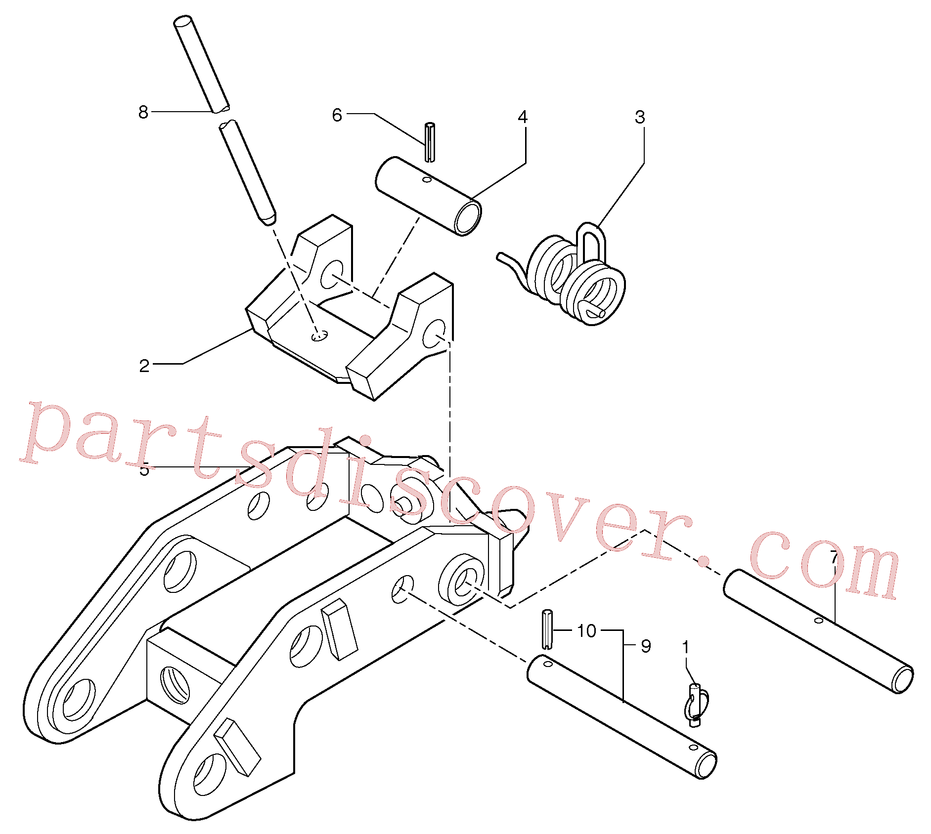 PJ3811956 for Volvo Tool holder / mechanical control(9241Z1 assembly)