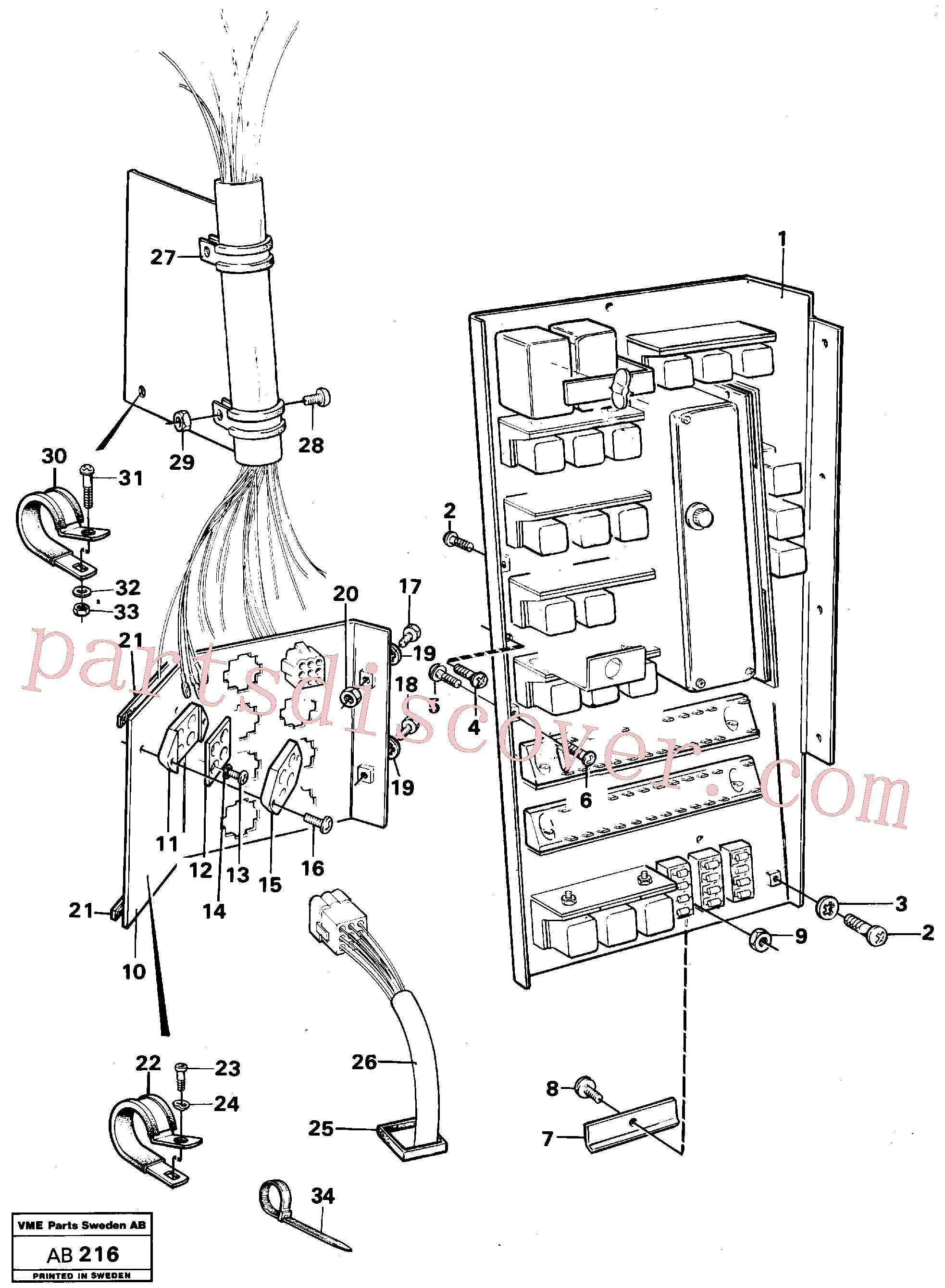 VOE14023052 for Volvo Distribution box with fitting parts(AB216 assembly)