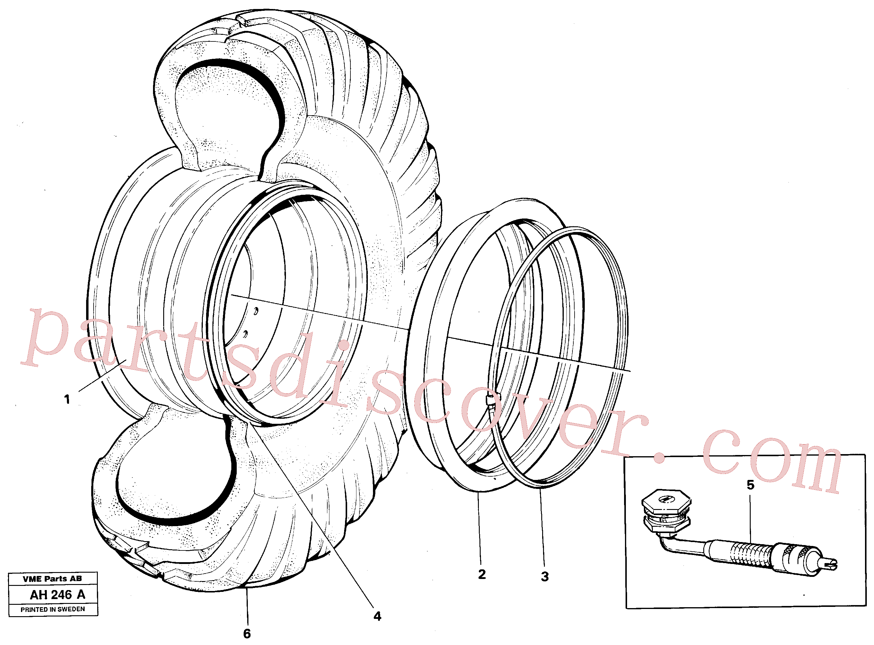 VOE4789781 for Volvo Wheel(AH246A assembly)