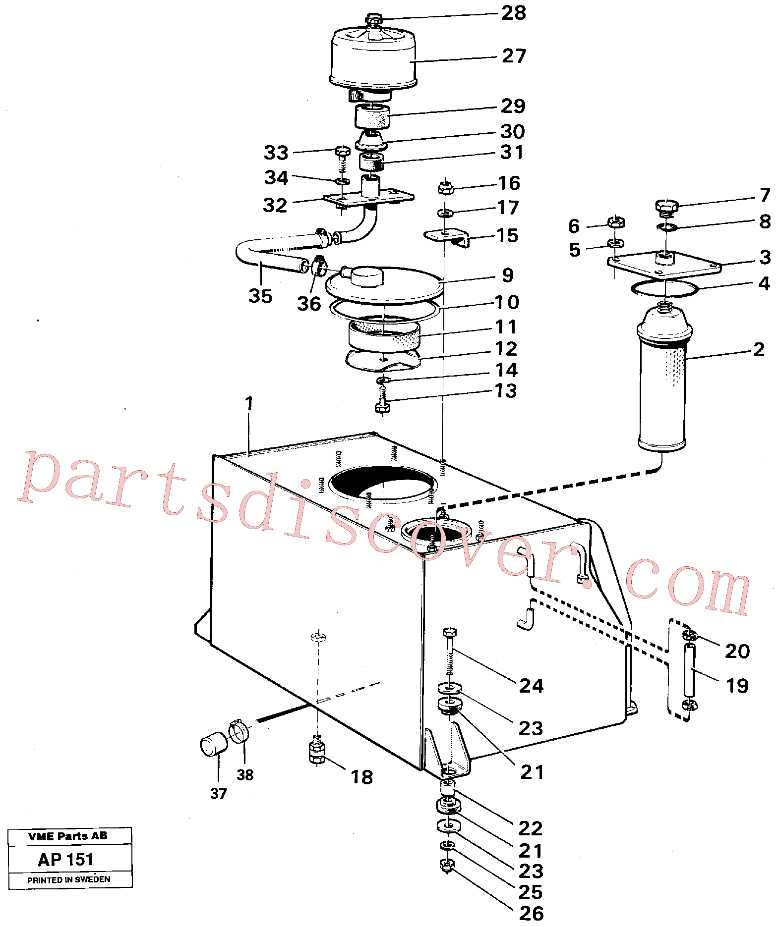 VOE958229 for Volvo Hydraulic tank(AP151 assembly)