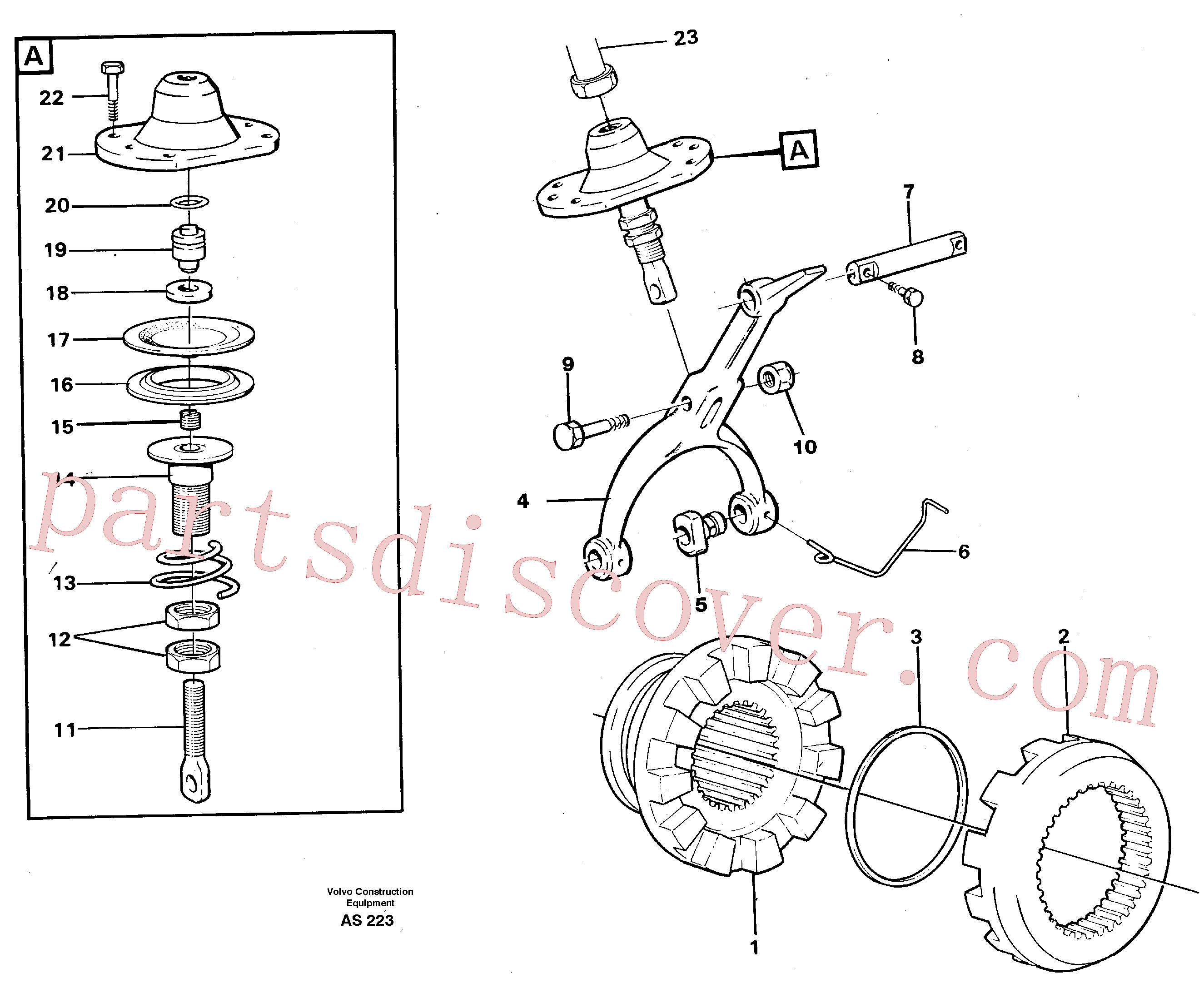 VOE11035616 for Volvo Differential lock(AS223 assembly)