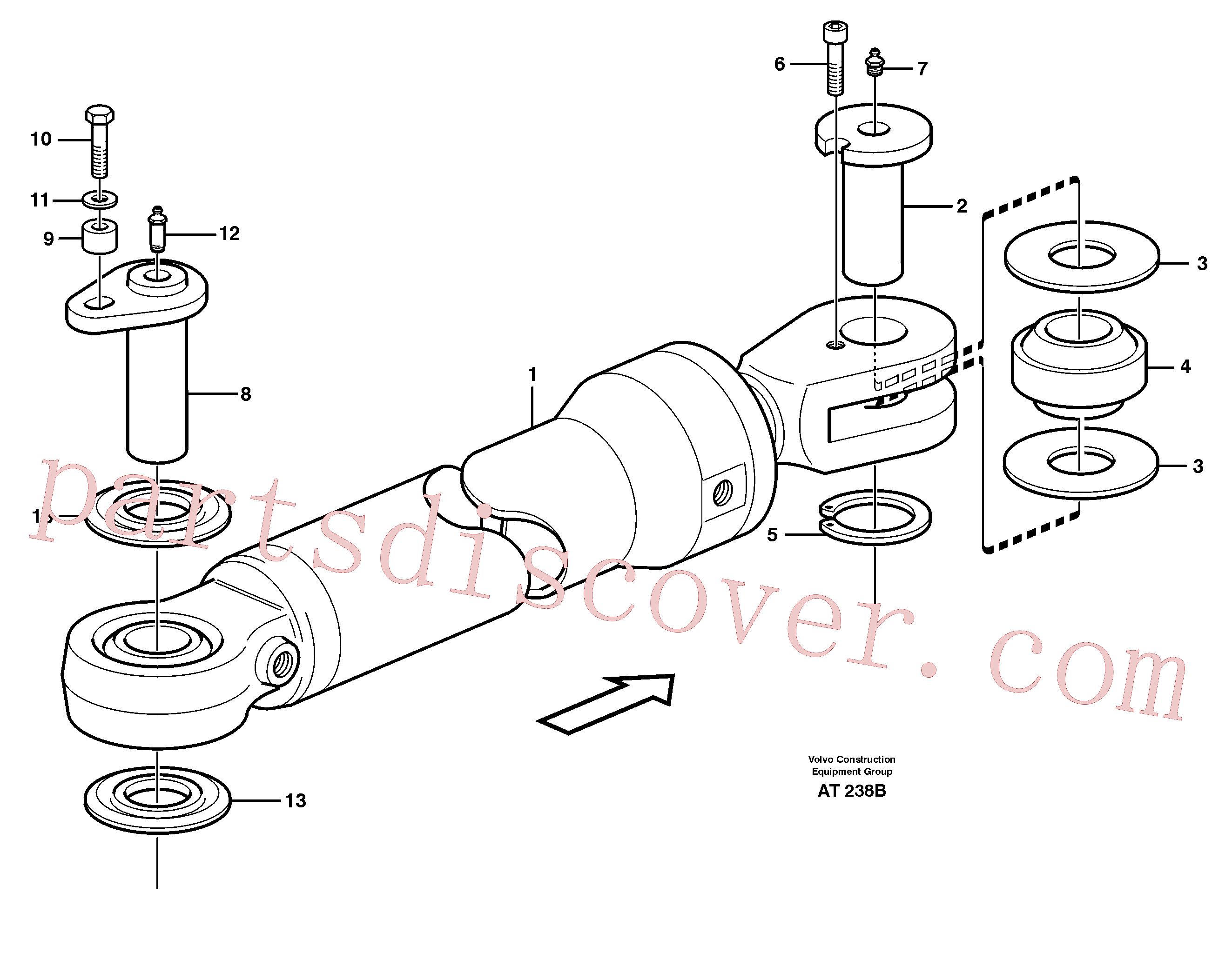 VOE955342 for Volvo Hydraulic cylinder, assembly(AT238B assembly)