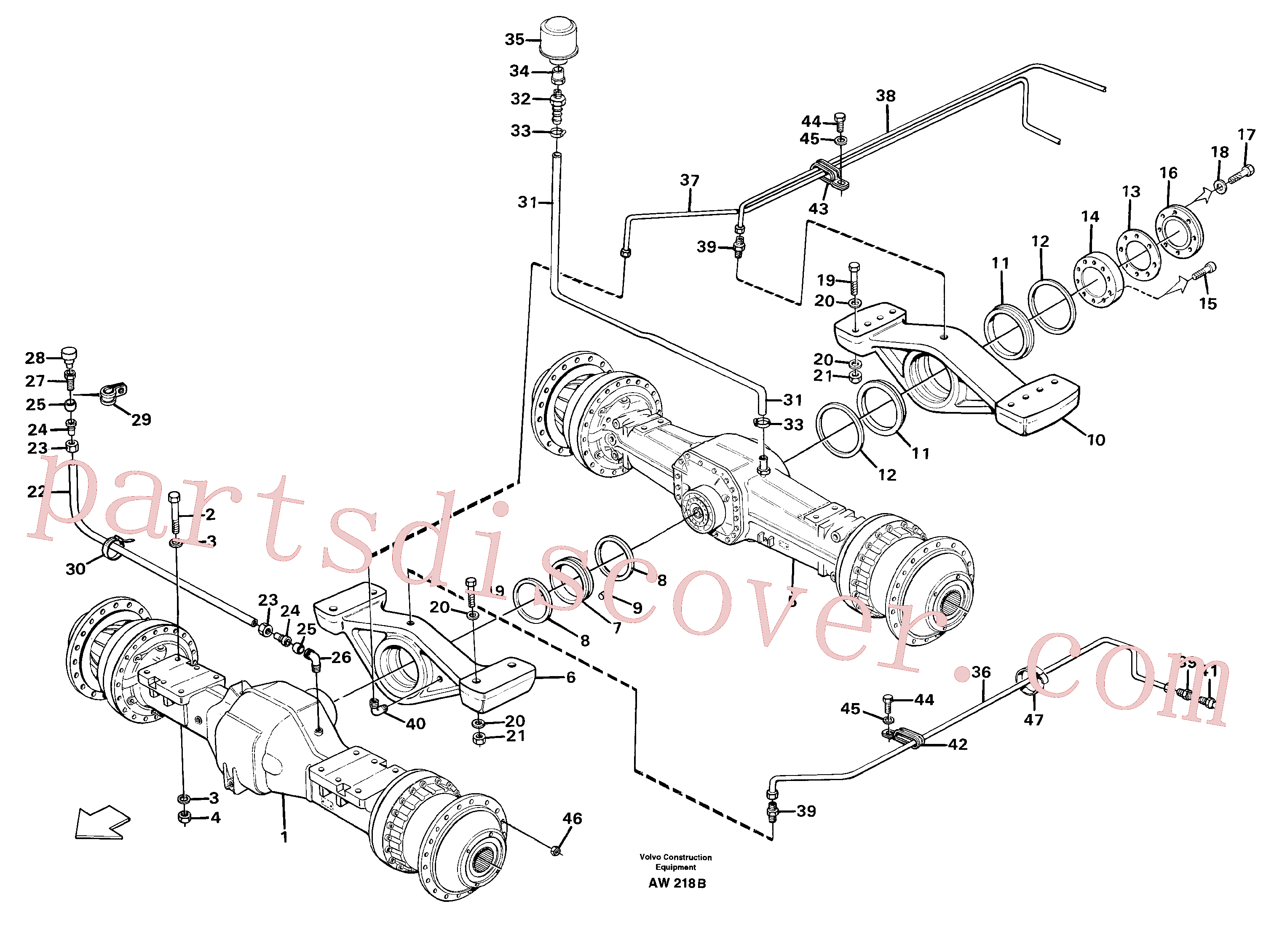 VOE914169 for Volvo Planet shafts with fitting parts(AW218B assembly)
