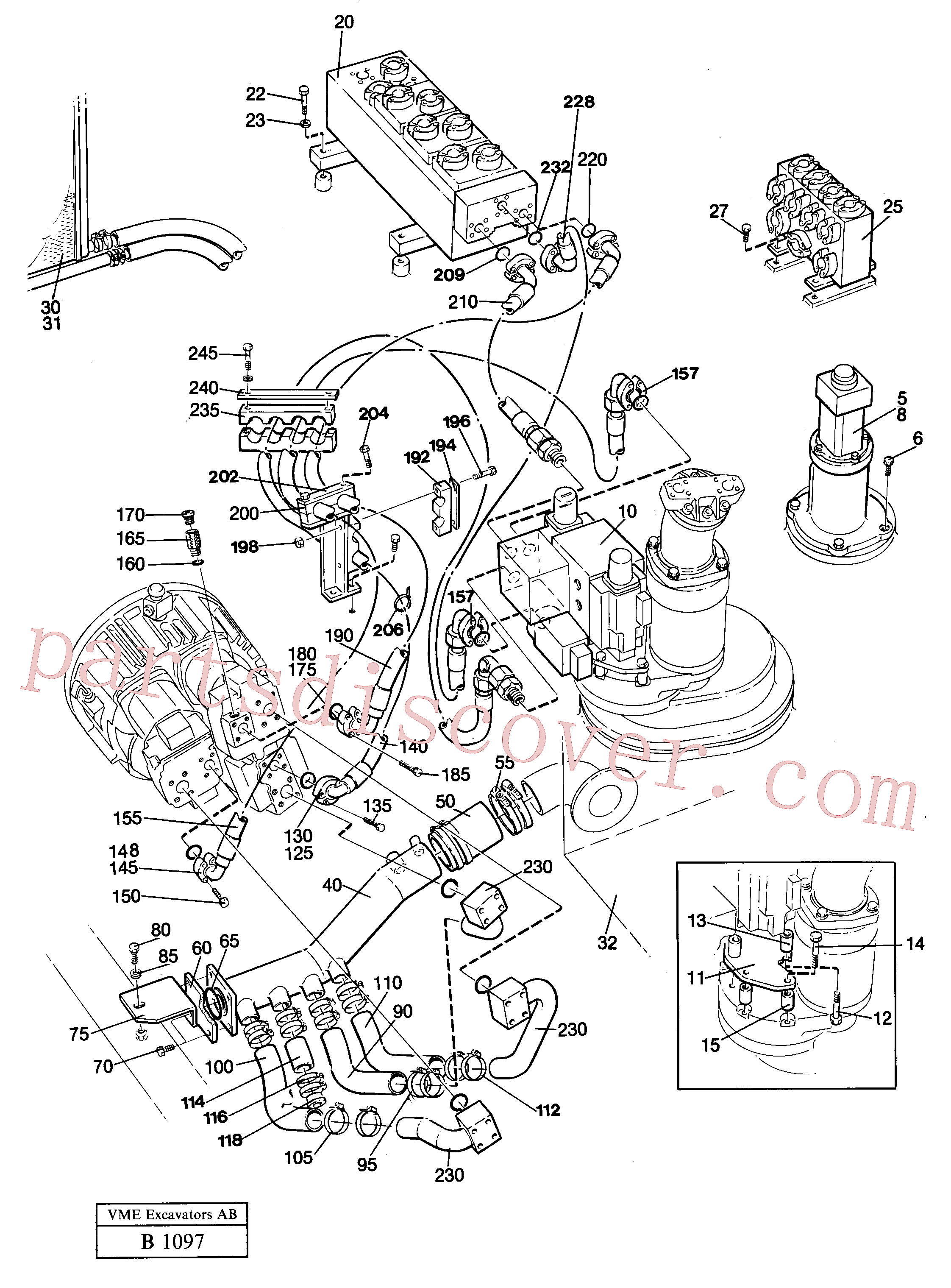 VOE14238153 for Volvo Hydraulic system(B1097 assembly)
