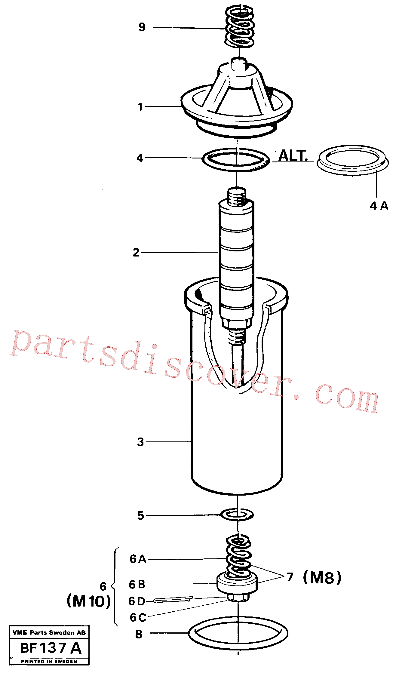 RM94146859 for Volvo Filter(BF137A assembly)