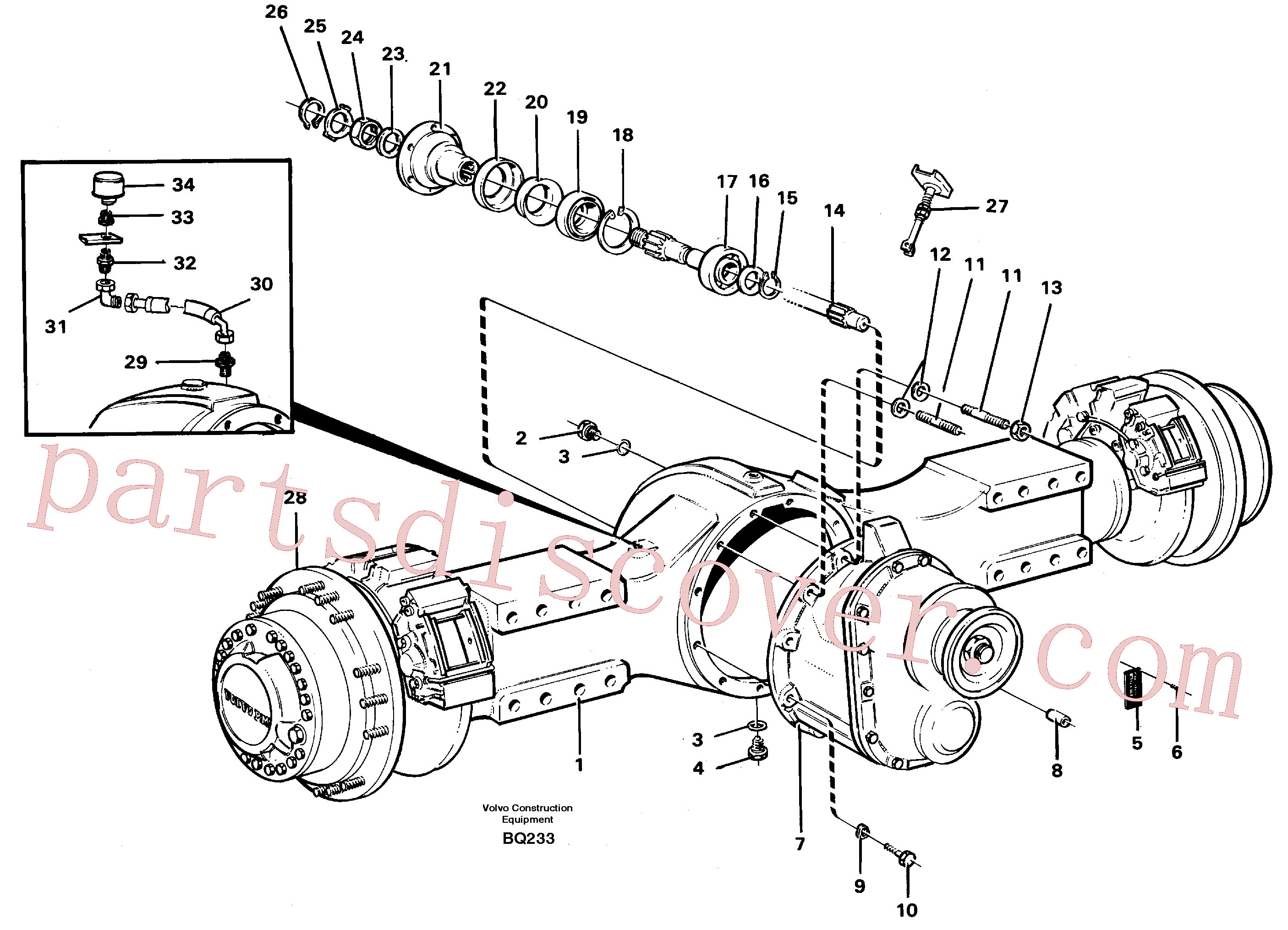VOE914478 for Volvo Planetary axle, axle 1 load unit(BQ233 assembly)
