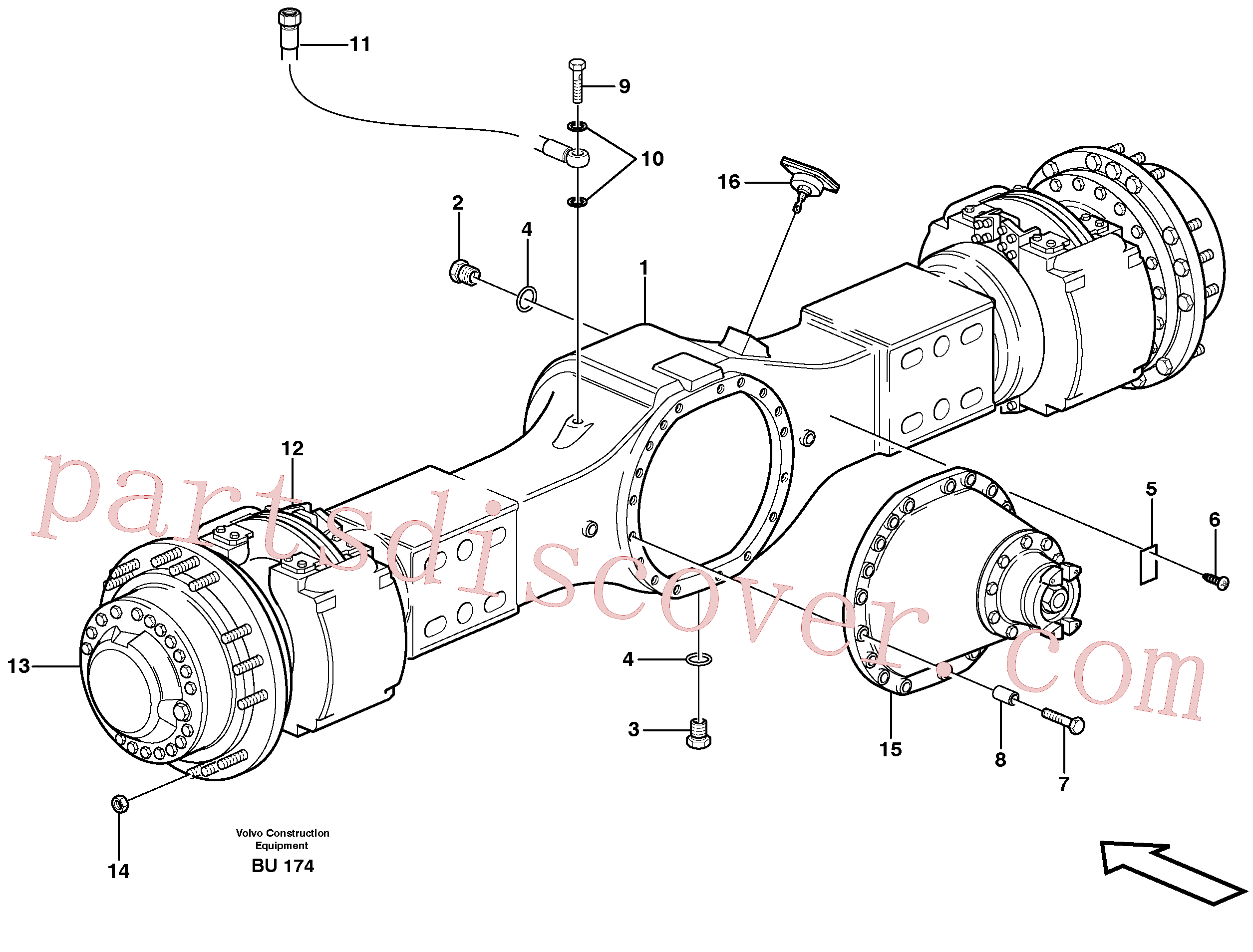 VOE947972 for Volvo Planetary axle, motor unit(BU174 assembly)