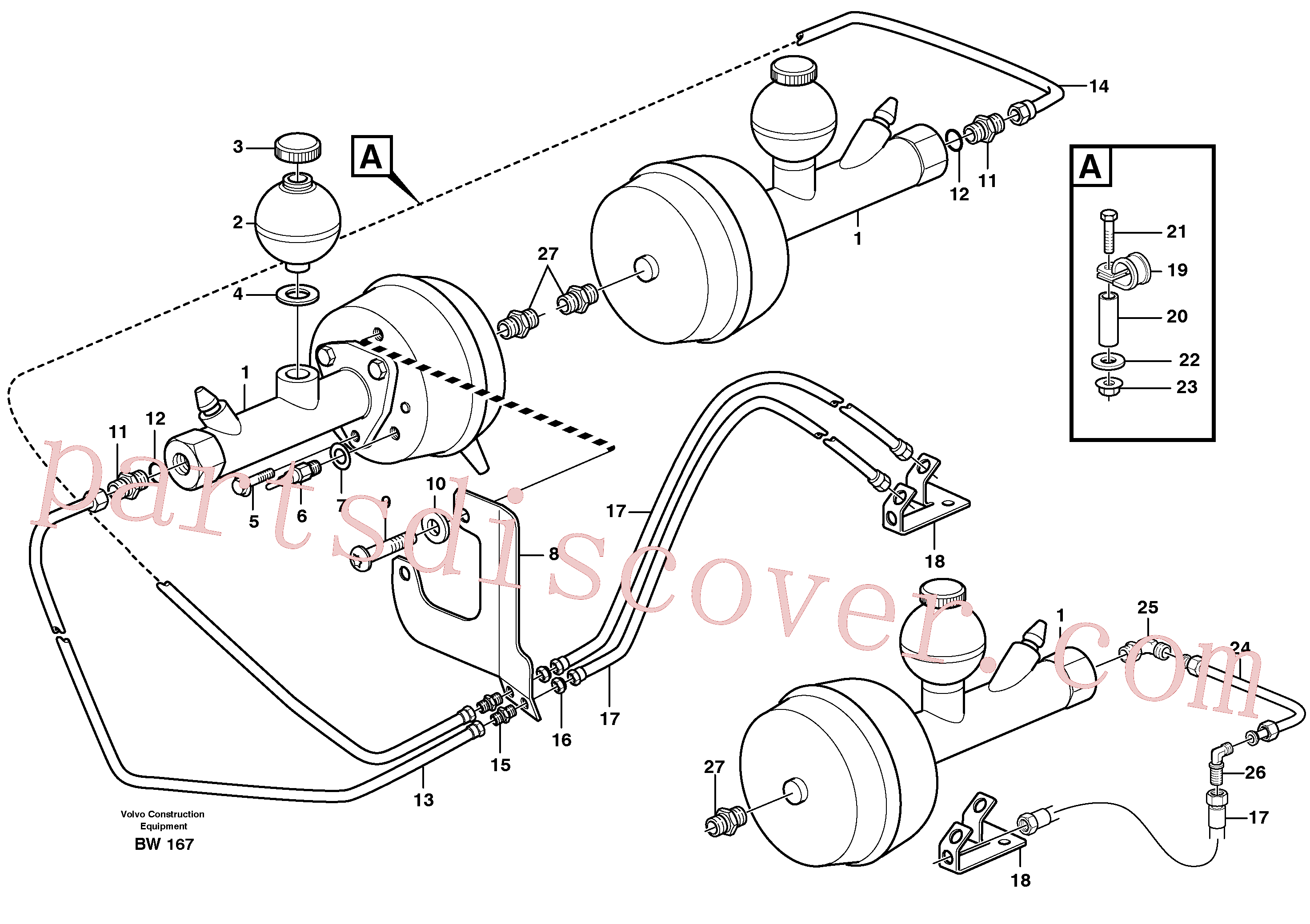 VOE935429 for Volvo Hydraulic brake system, load unit(BW167 assembly)