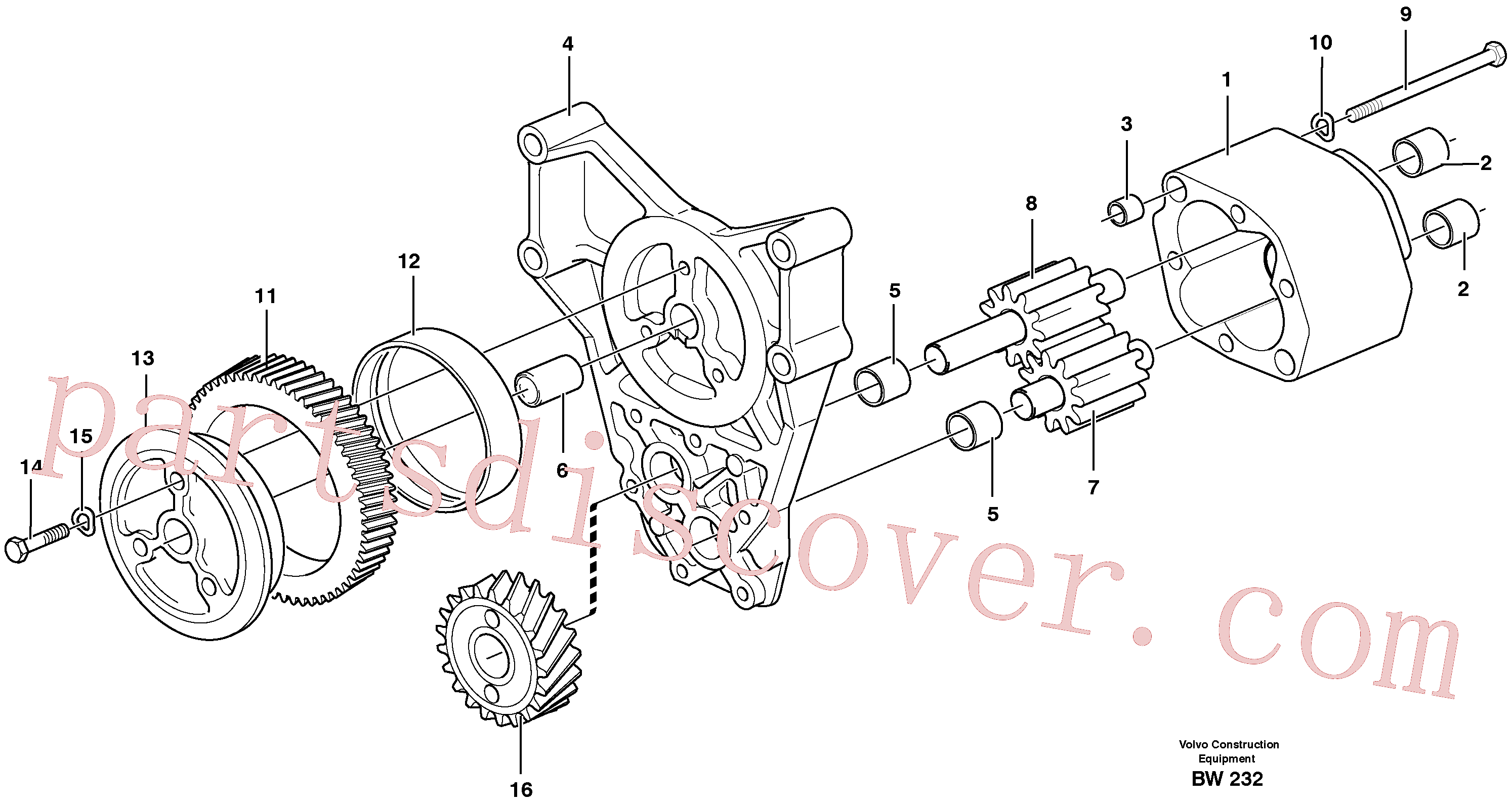 VOE940186 for Volvo Oil pump(BW232 assembly)