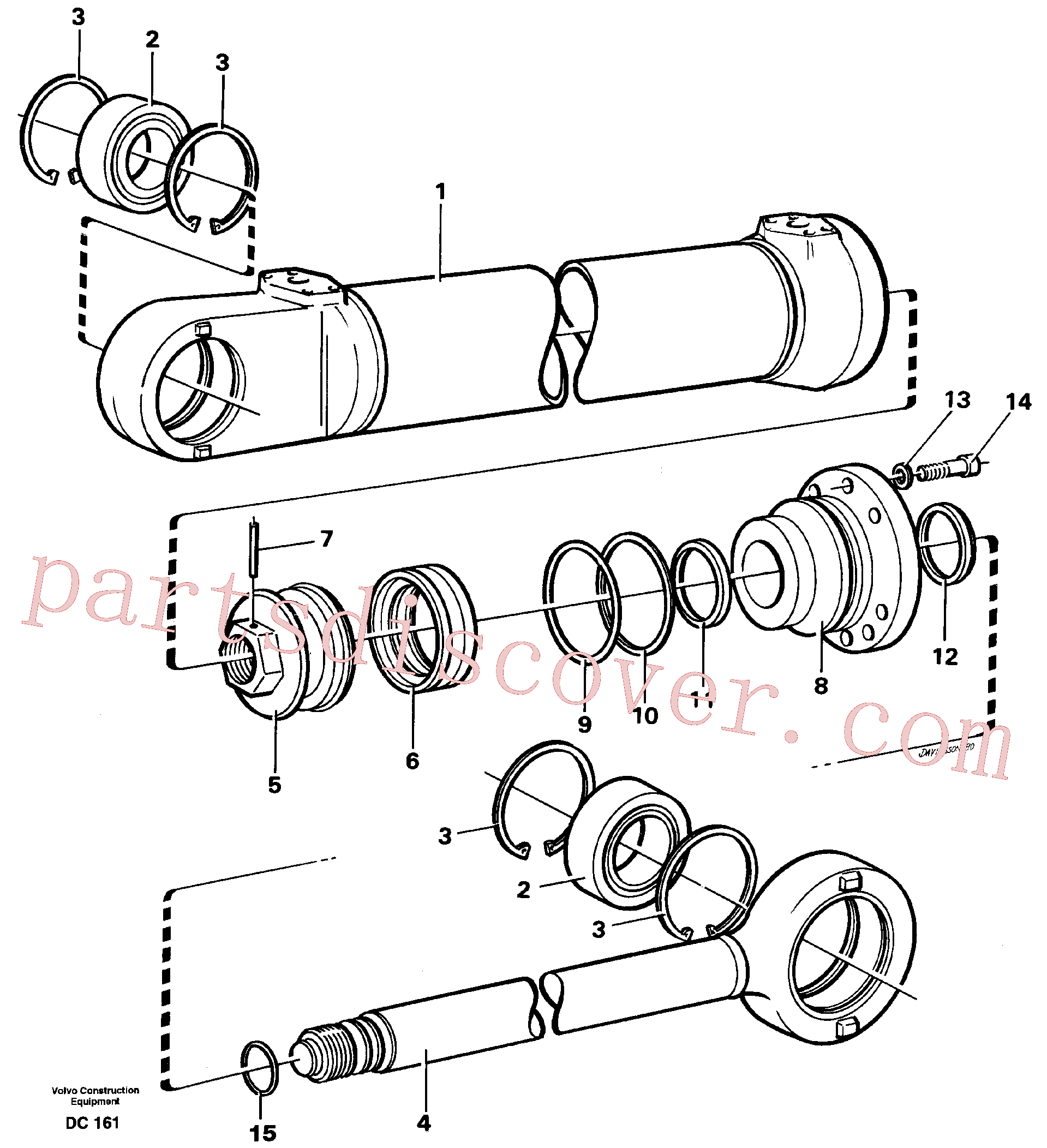 VOE4784134 for Volvo Hydraulic cylinder(DC161 assembly)