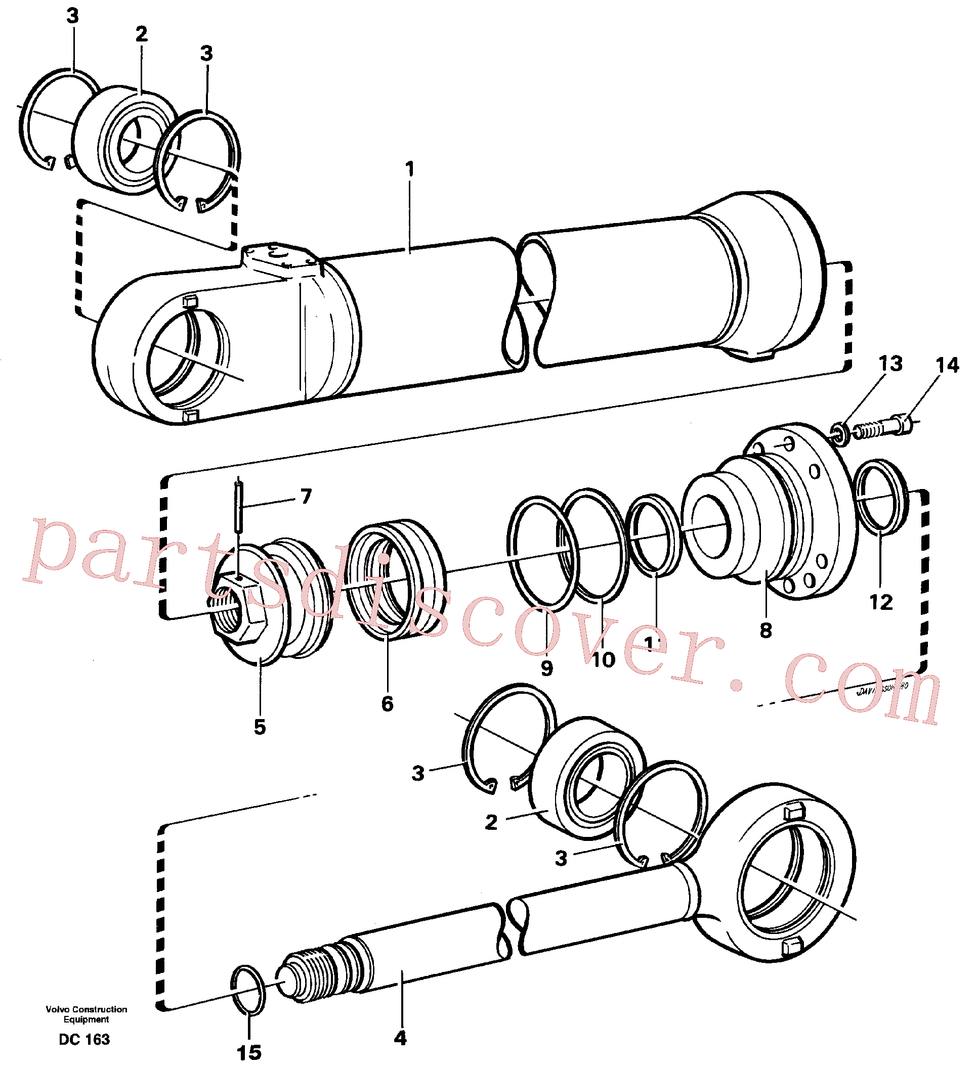 VOE4784134 for Volvo Hydraulic cylinder(DC163 assembly)