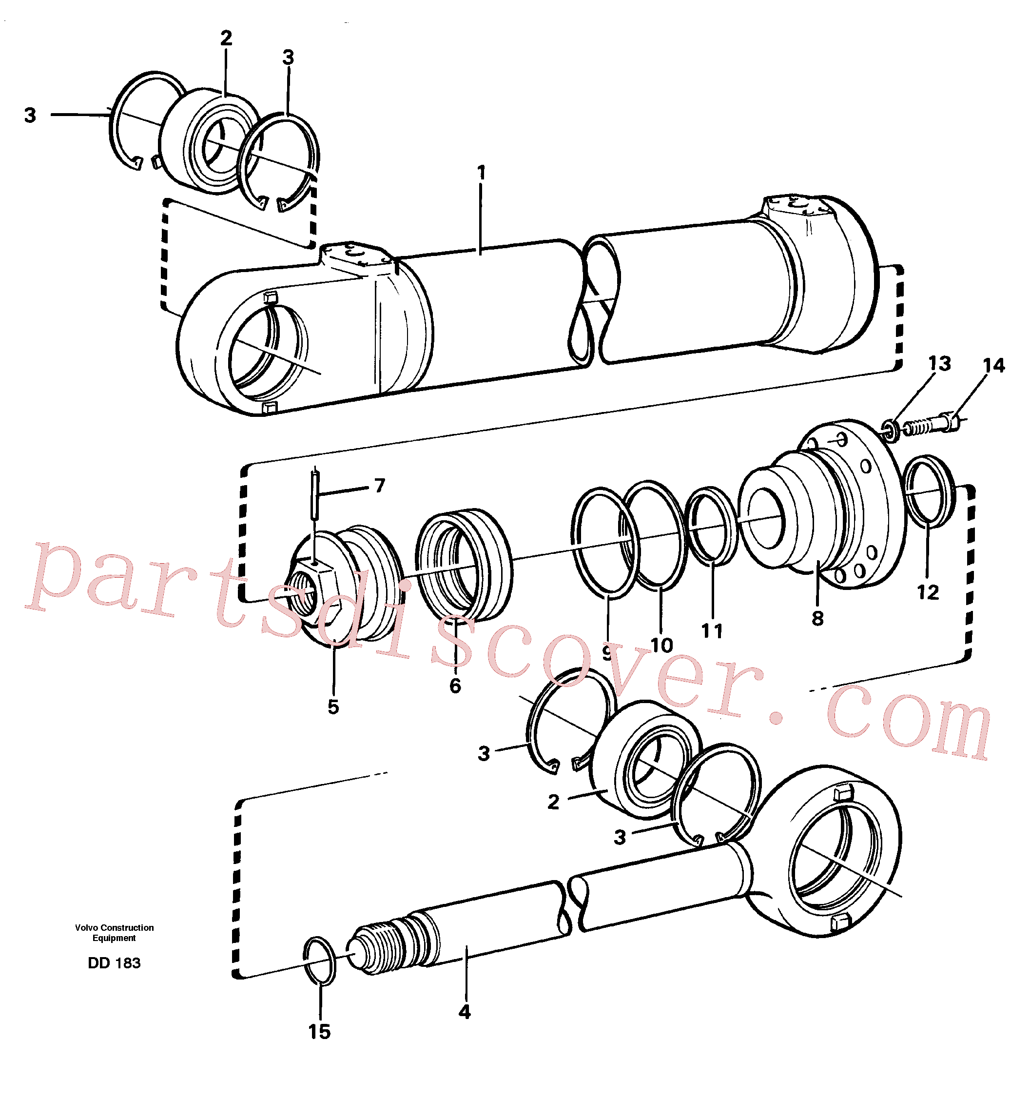 VOE4784134 for Volvo Hydraulic cylinder(DD183 assembly)