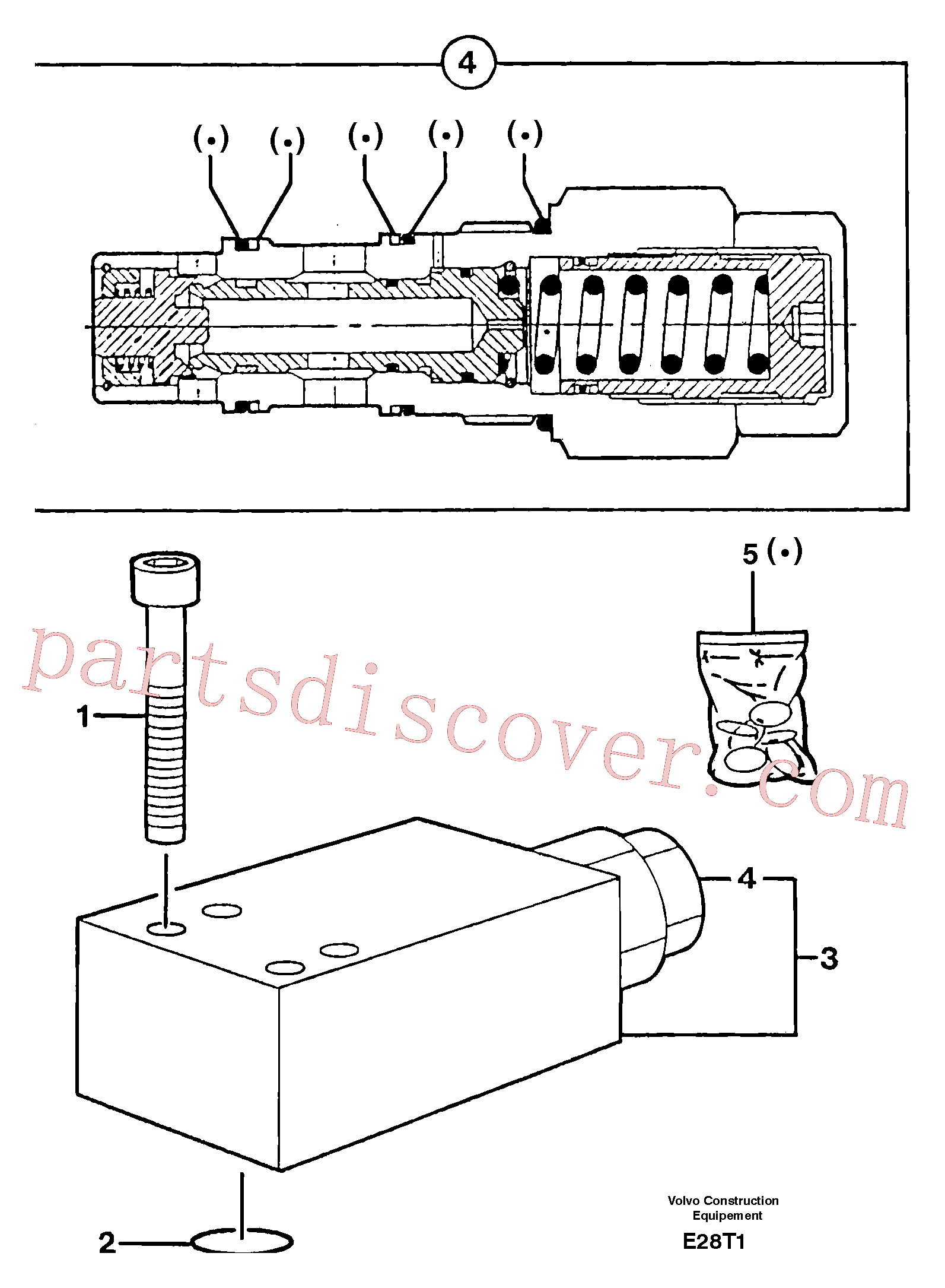 PJ5220024 for Volvo Safety valve ( dipper arm cylinder )(E28T1 assembly)