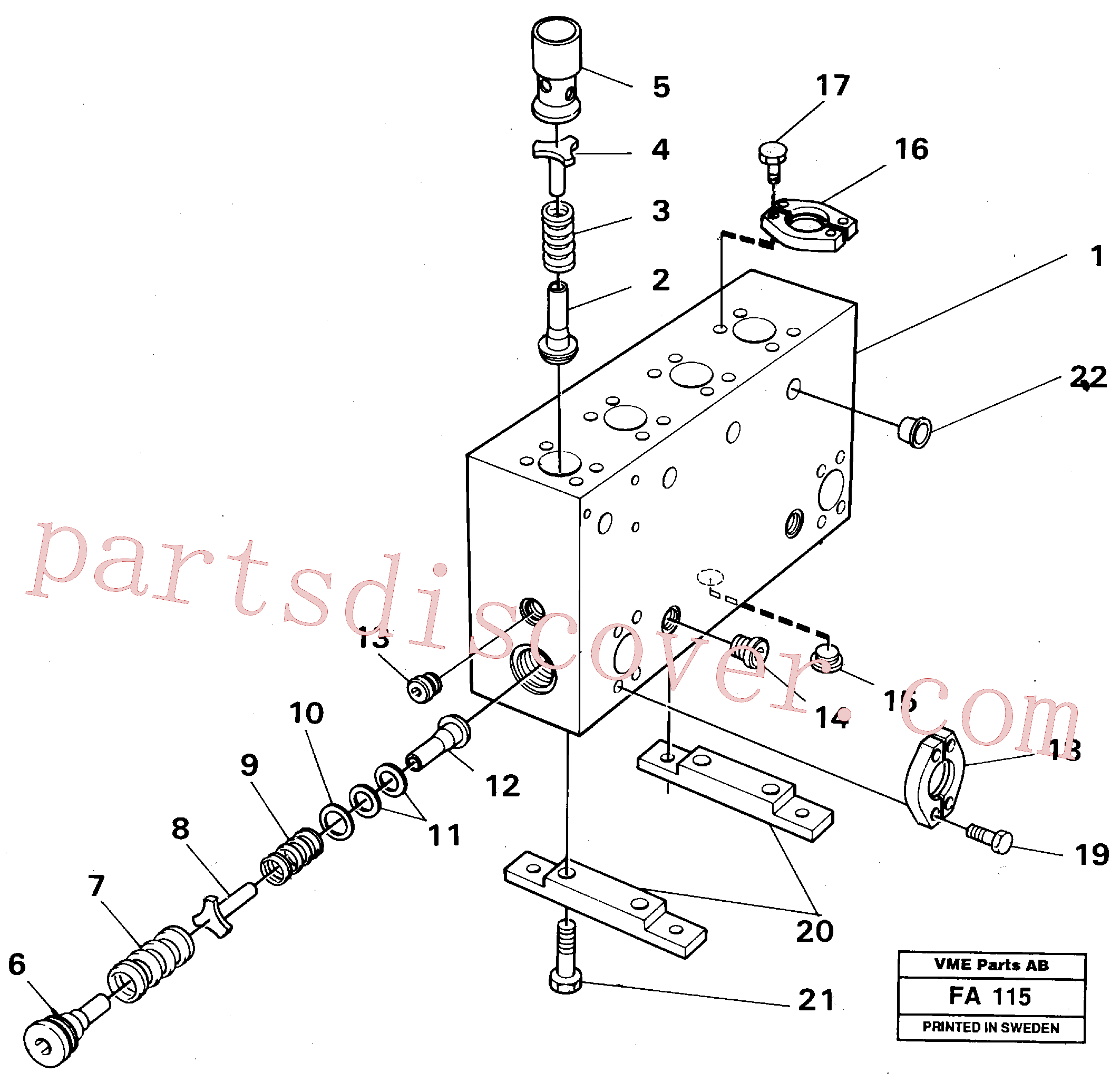 VOE14268263 for Volvo Connection board(FA115 assembly)