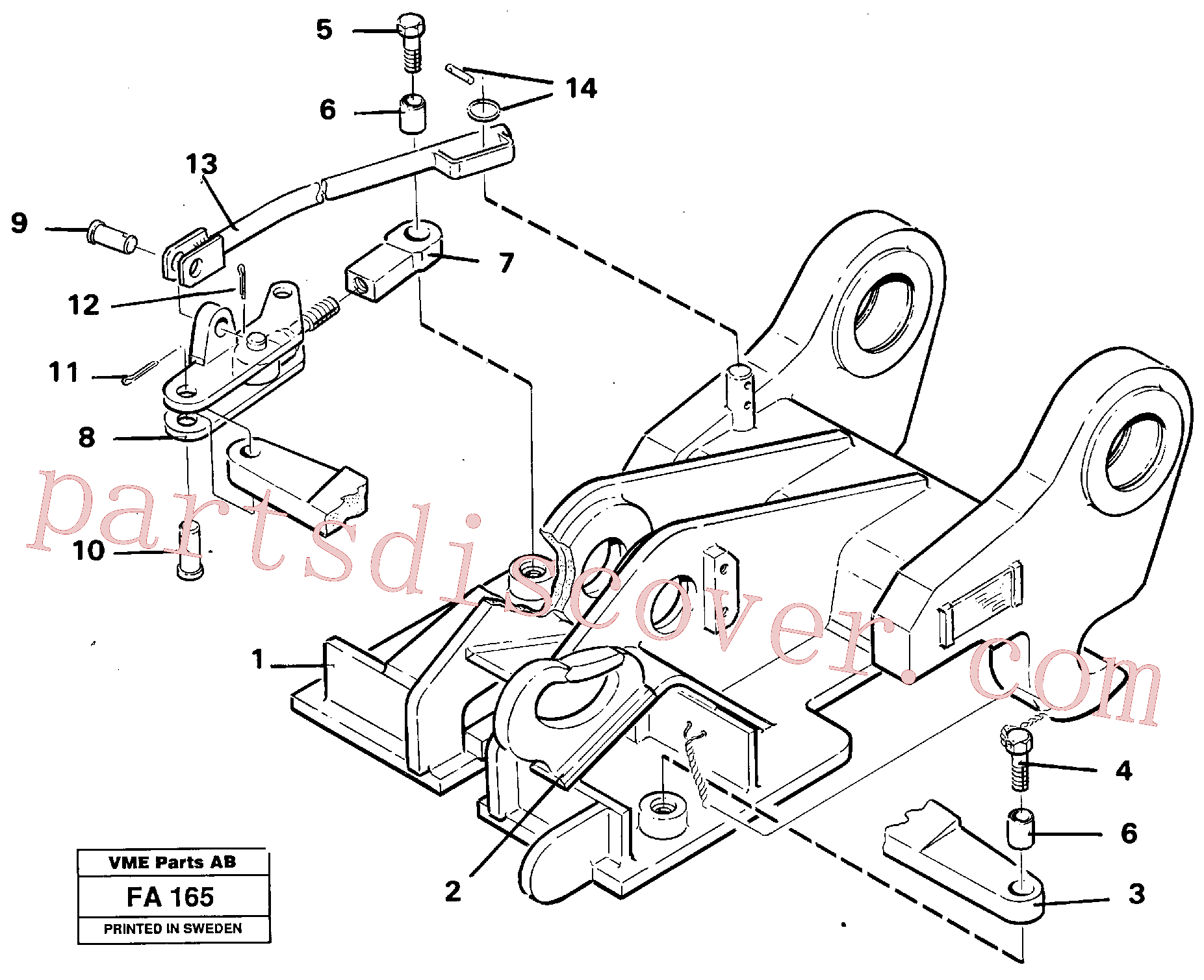 VOE14054560 for Volvo Quickfit, mechanical(FA165 assembly)