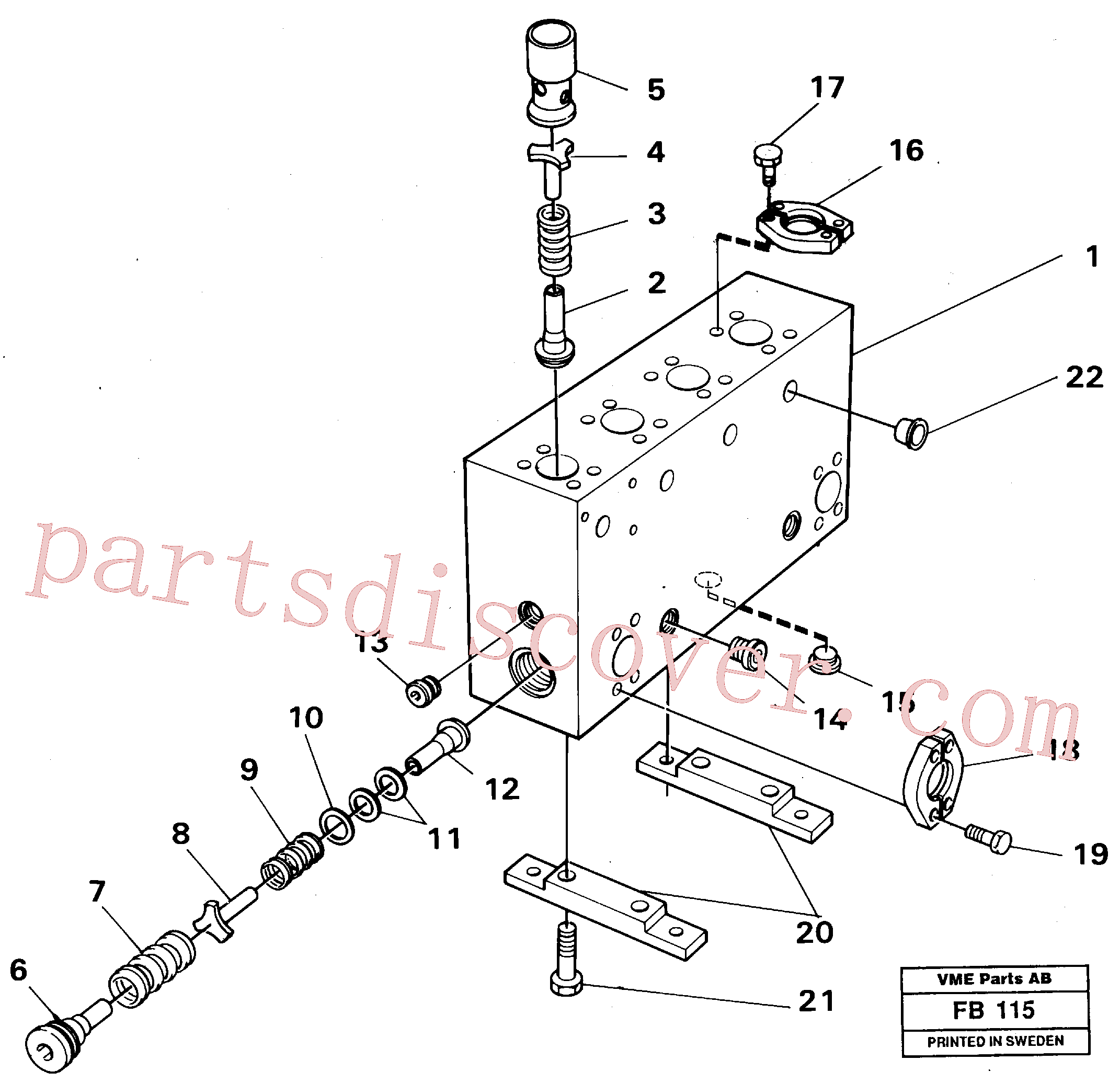 VOE14268263 for Volvo Connection board(FB115 assembly)