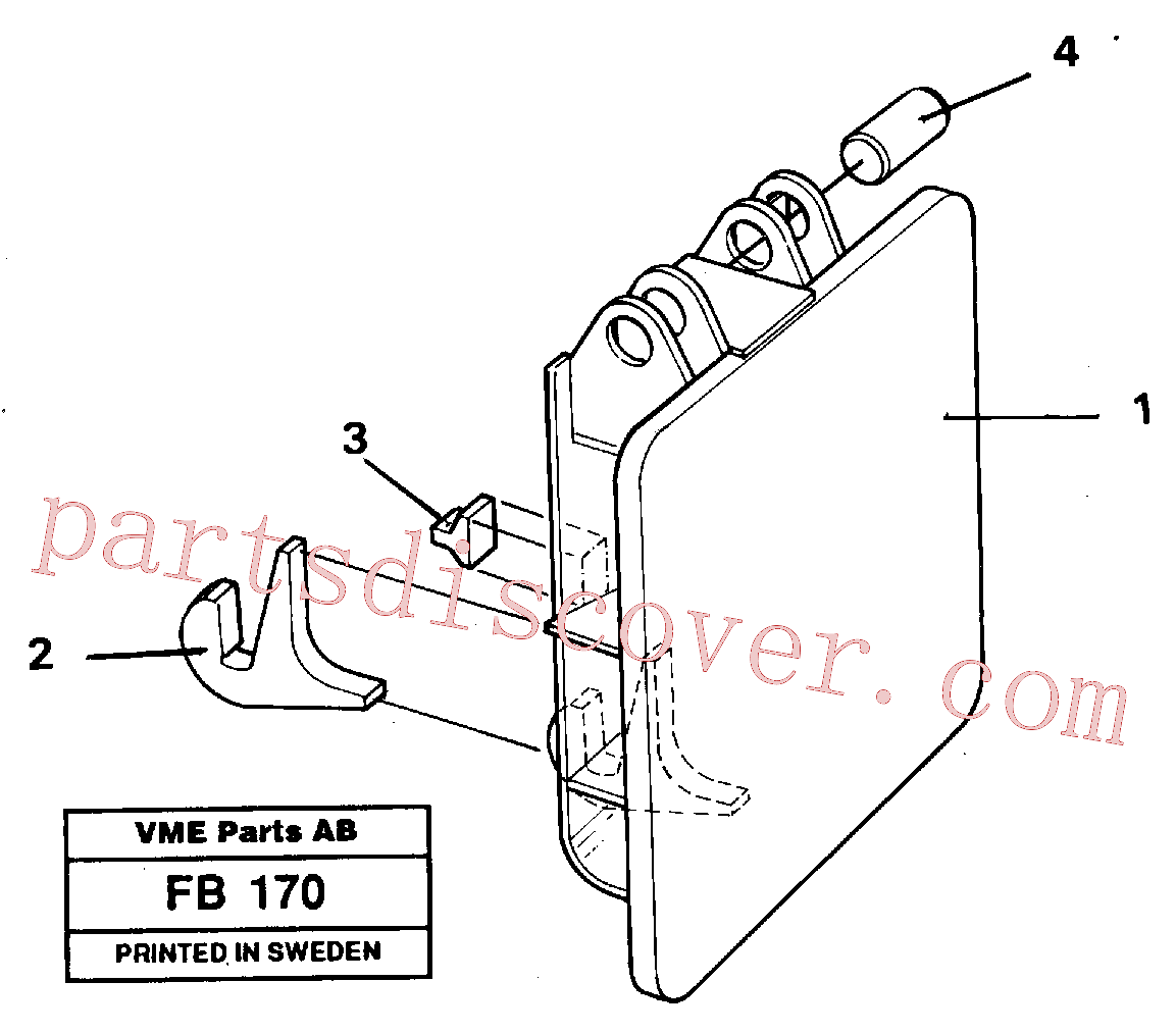 VOE14254671 for Volvo Hammer plate(FB170 assembly)