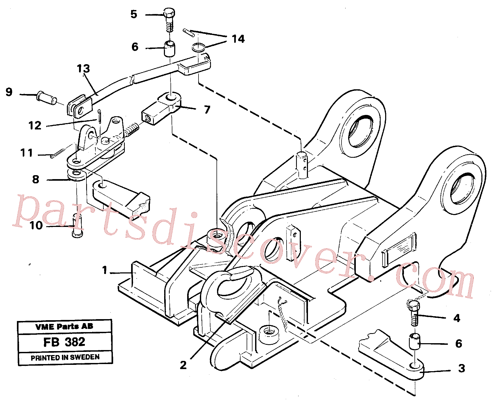 VOE14054560 for Volvo Quickfit, mechanical(FB382 assembly)