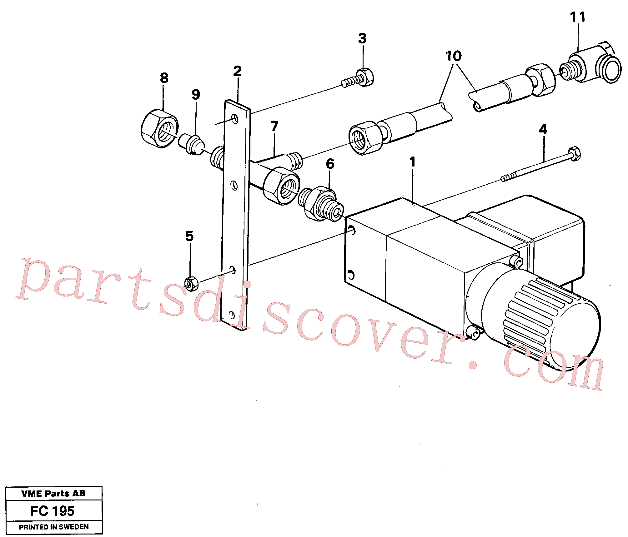 VOE14015038 for Volvo Overload protection(FC195 assembly)
