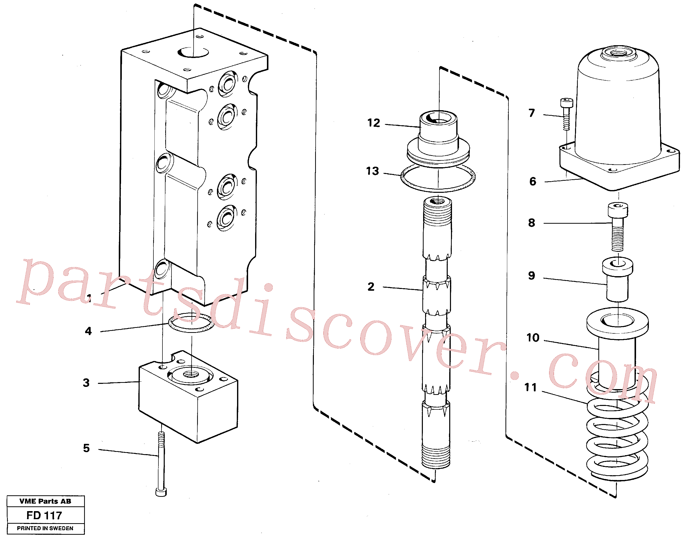 VOE14266528 for Volvo Four-way valve, dipper arm(FD117 assembly)