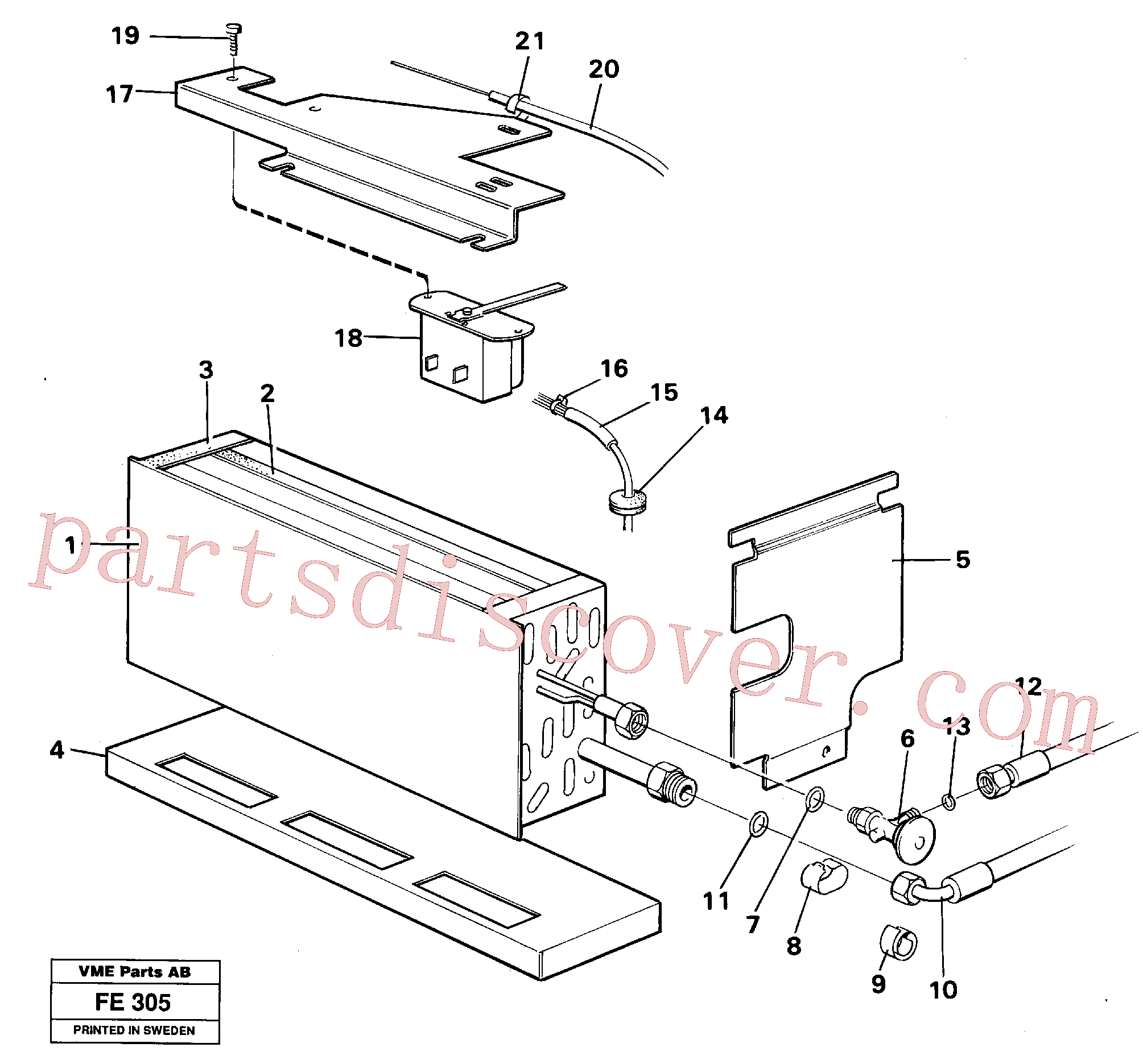 VOE14247154 for Volvo Evaporator with fitting parts(FE305 assembly)