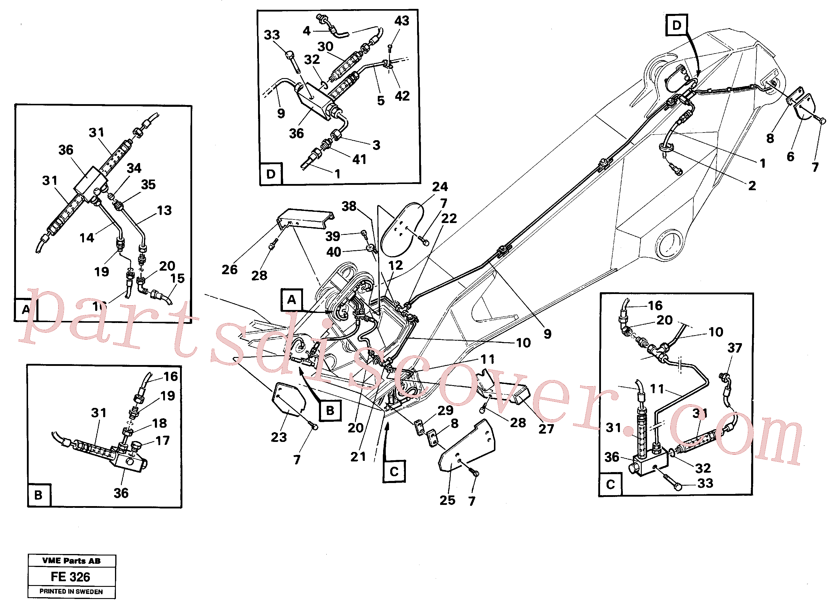 VOE14240658 for Volvo Automatic dipper lubric. Mass Excavation(FE326 assembly)