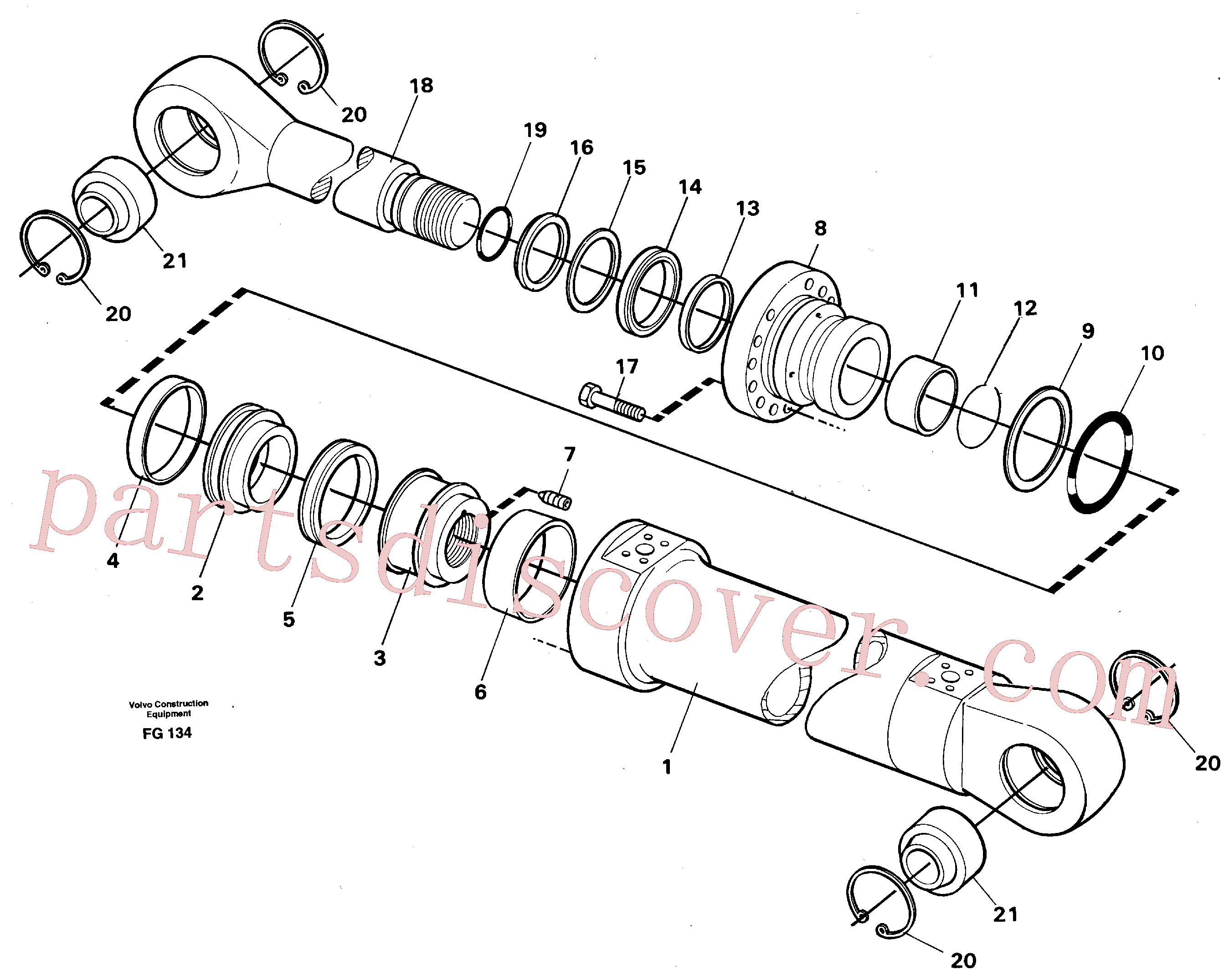 VOE4780220 for Volvo Boom cylinder(FG134 assembly)