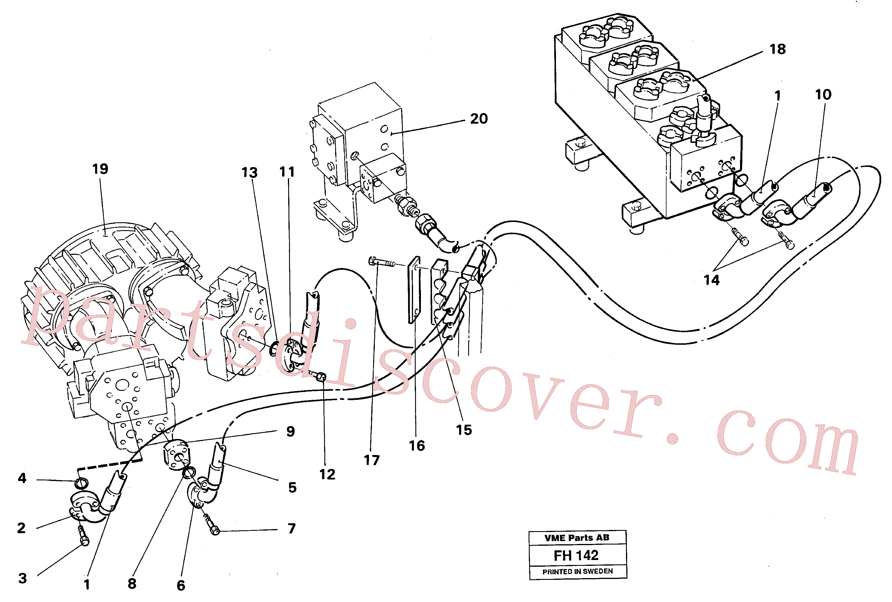 VOE14238924 for Volvo Hydraulic system, feed line(FH142 assembly)