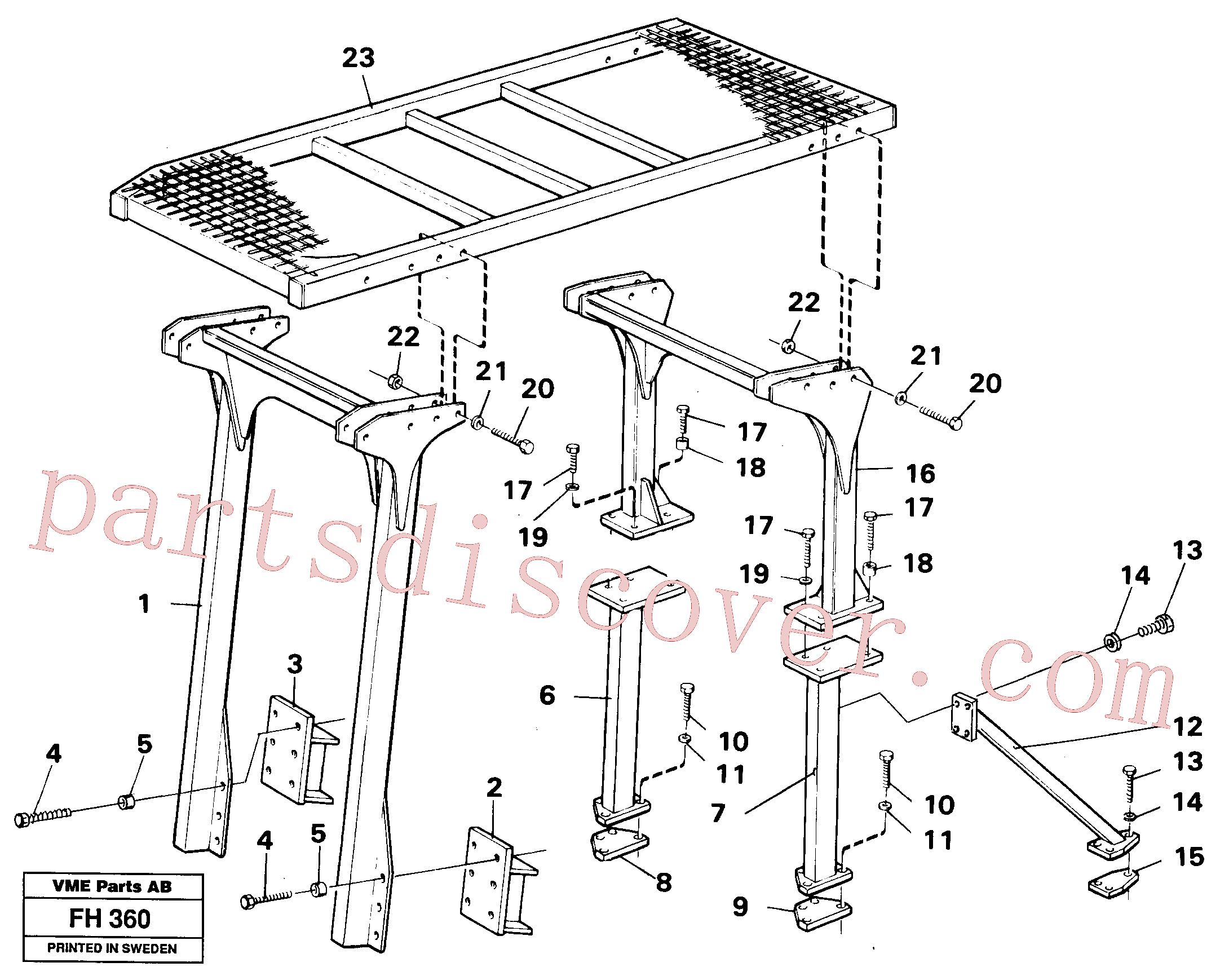 VOE14287029 for Volvo Protection over drivers cab(FH360 assembly)