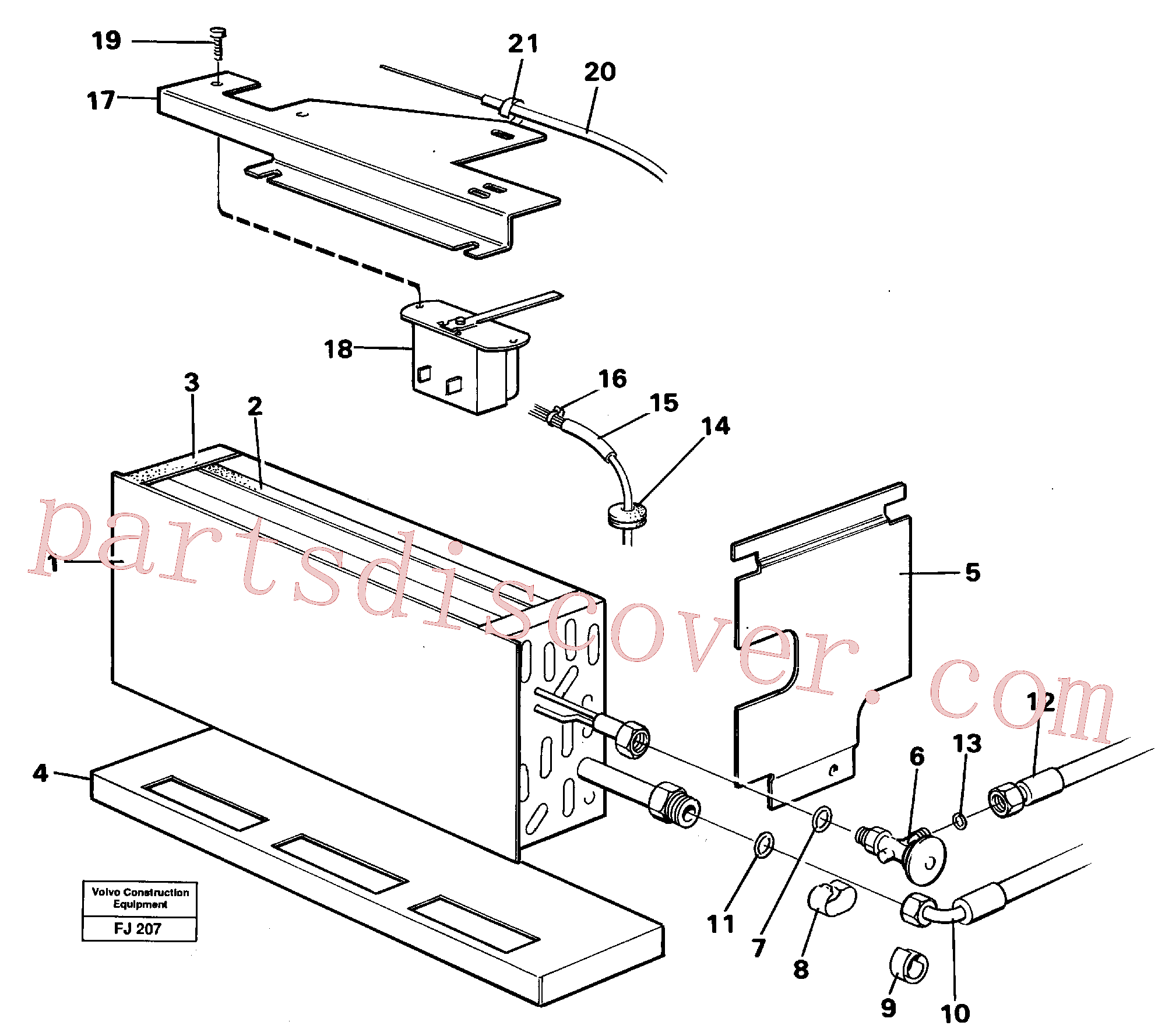 VOE14210342 for Volvo Evaporator with fitting parts Cooling agent R12,r134a(FJ207 assembly)