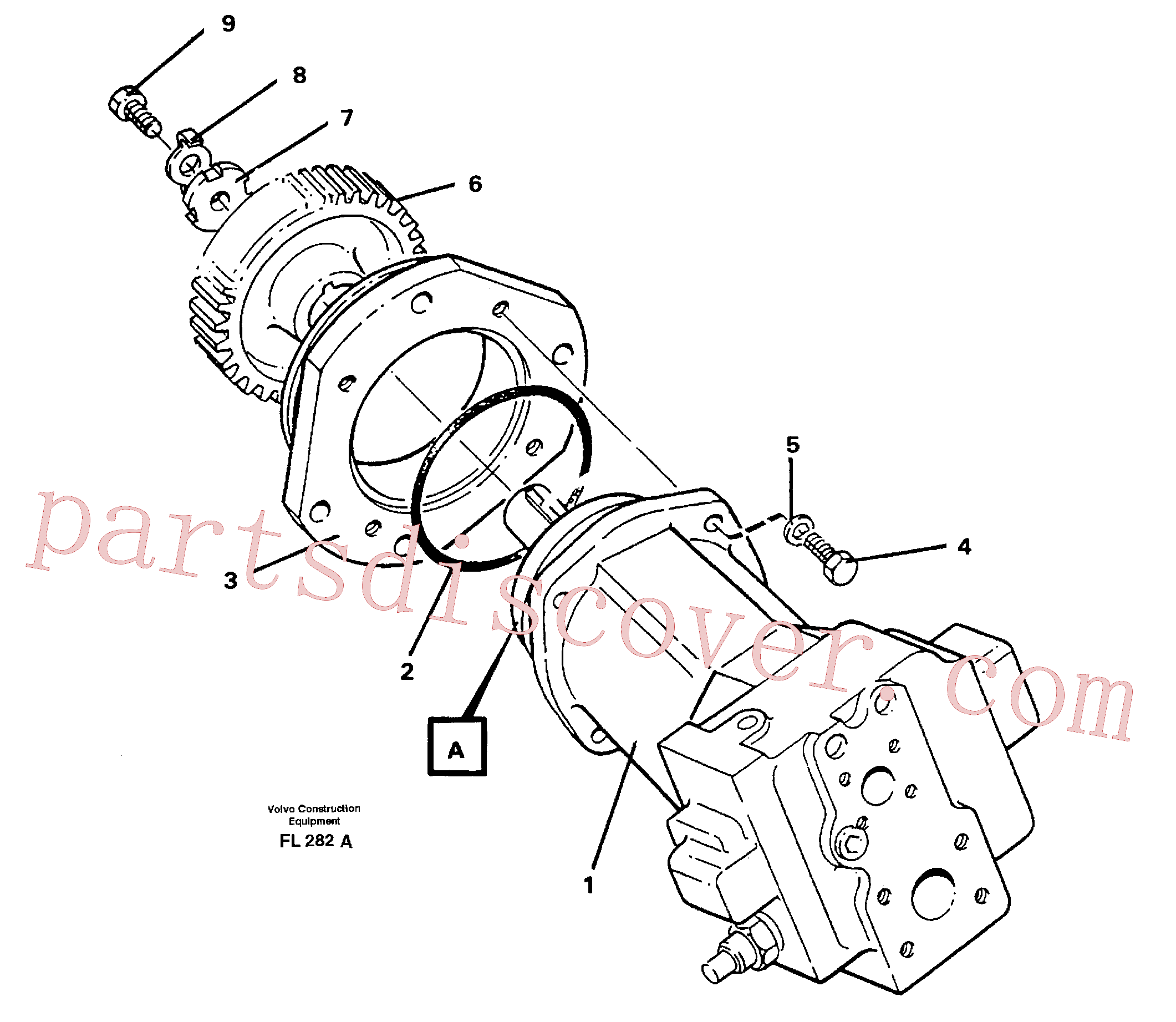 VOE925267 for Volvo Hydraulic pump(FL282A assembly)