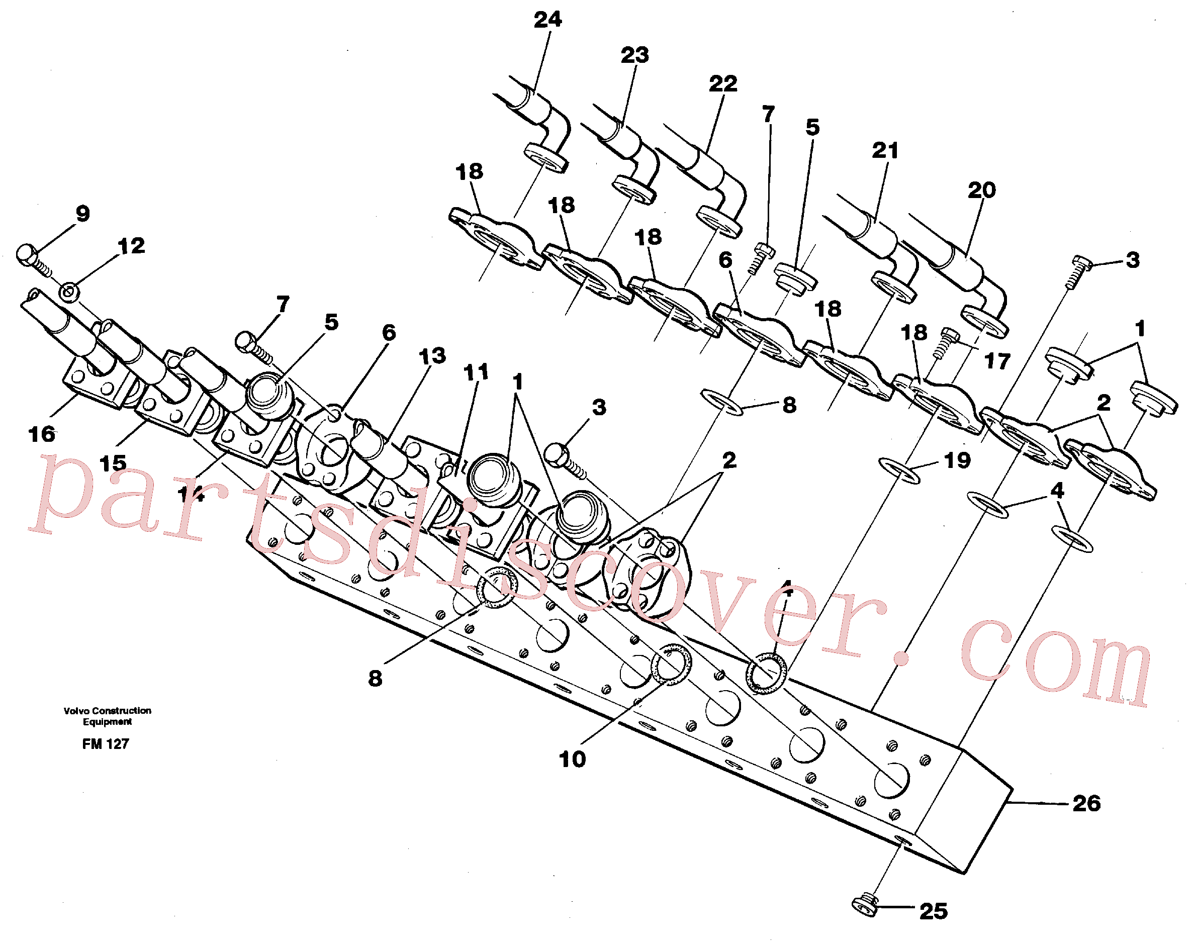 VOE14266212 for Volvo Conneection block with hoses(FM127 assembly)
