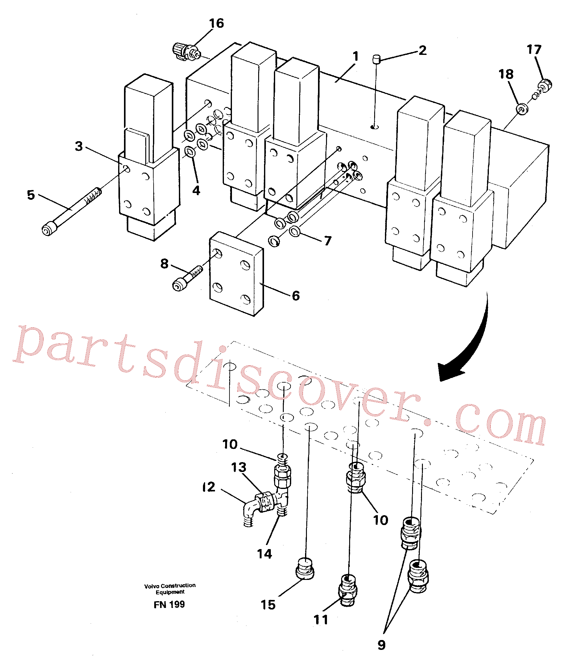 VOE11716048 for Volvo Control block(FN199 assembly)