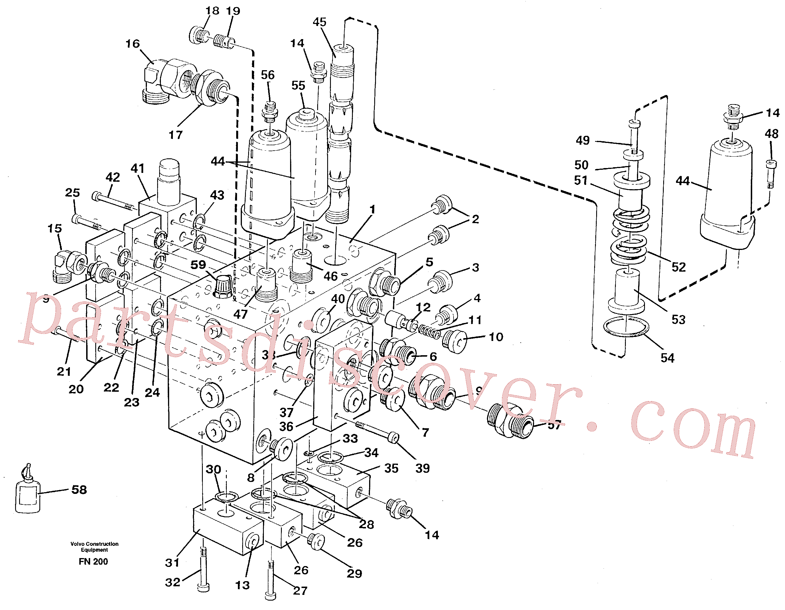 VOE14024363 for Volvo Slew valve assembly(FN200 assembly)