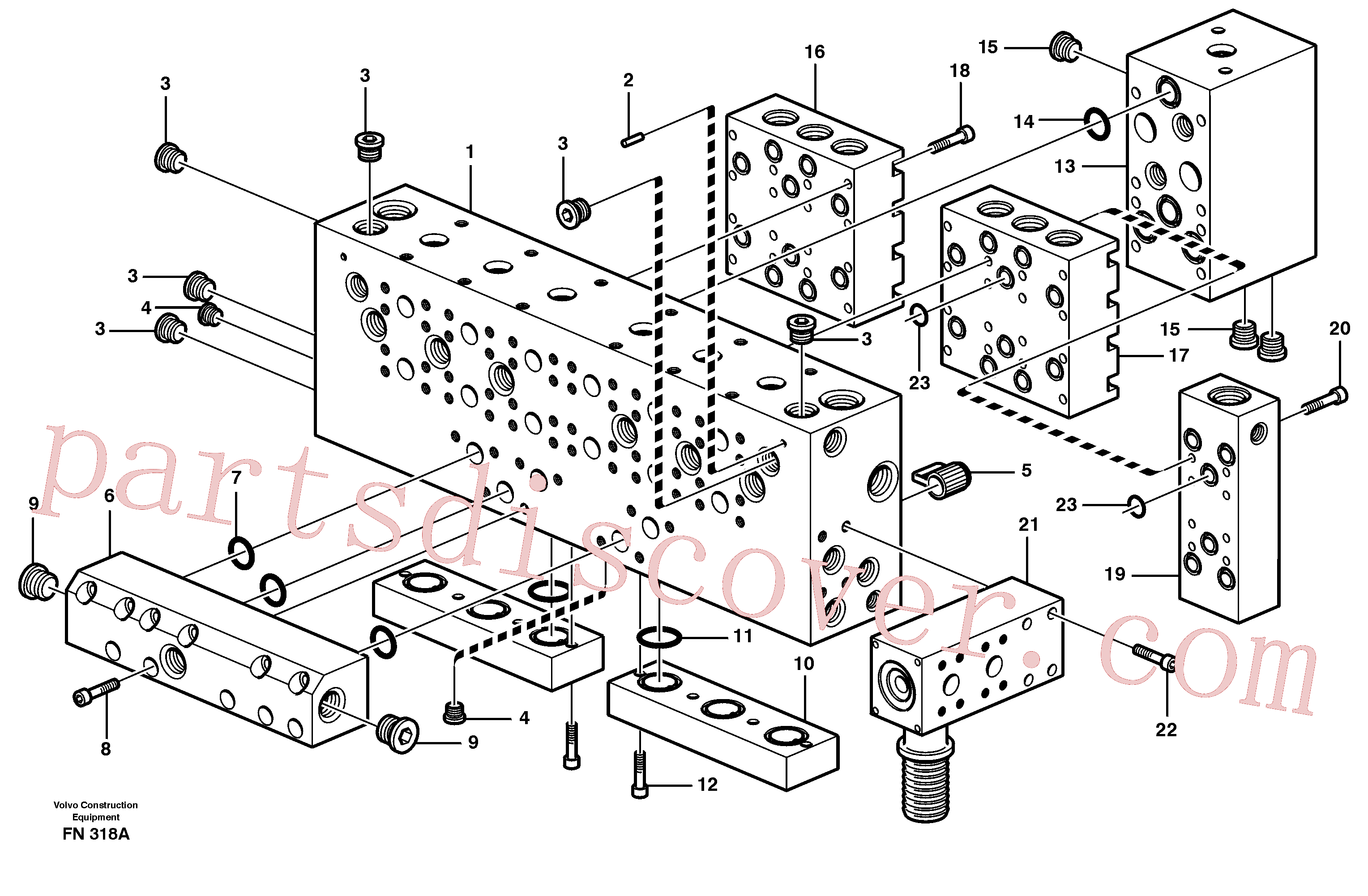 VOE14342720 for Volvo Main valve assembly, assembly block(FN318A assembly)