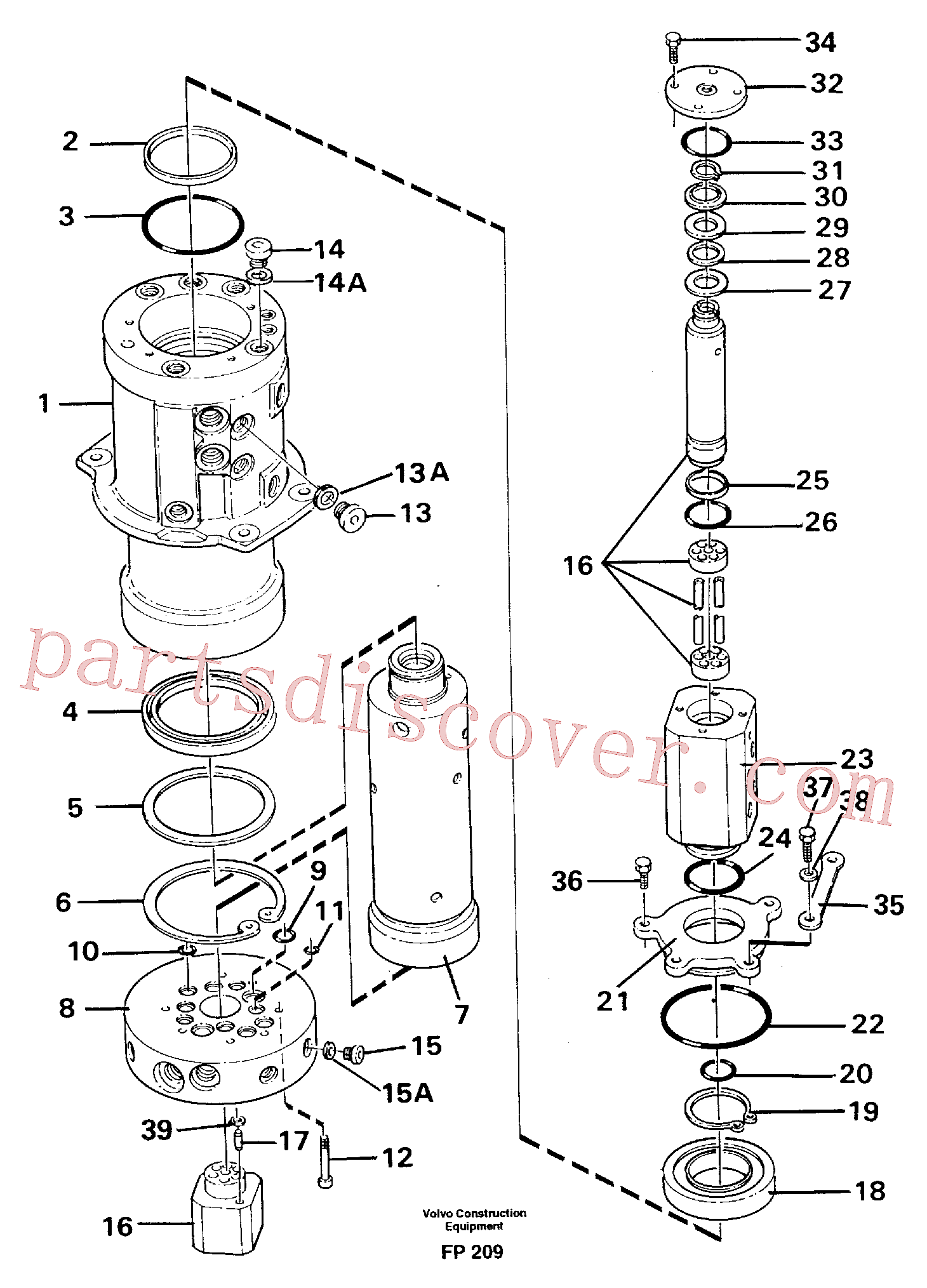 VOE914478 for Volvo Turning joint(FP209 assembly)