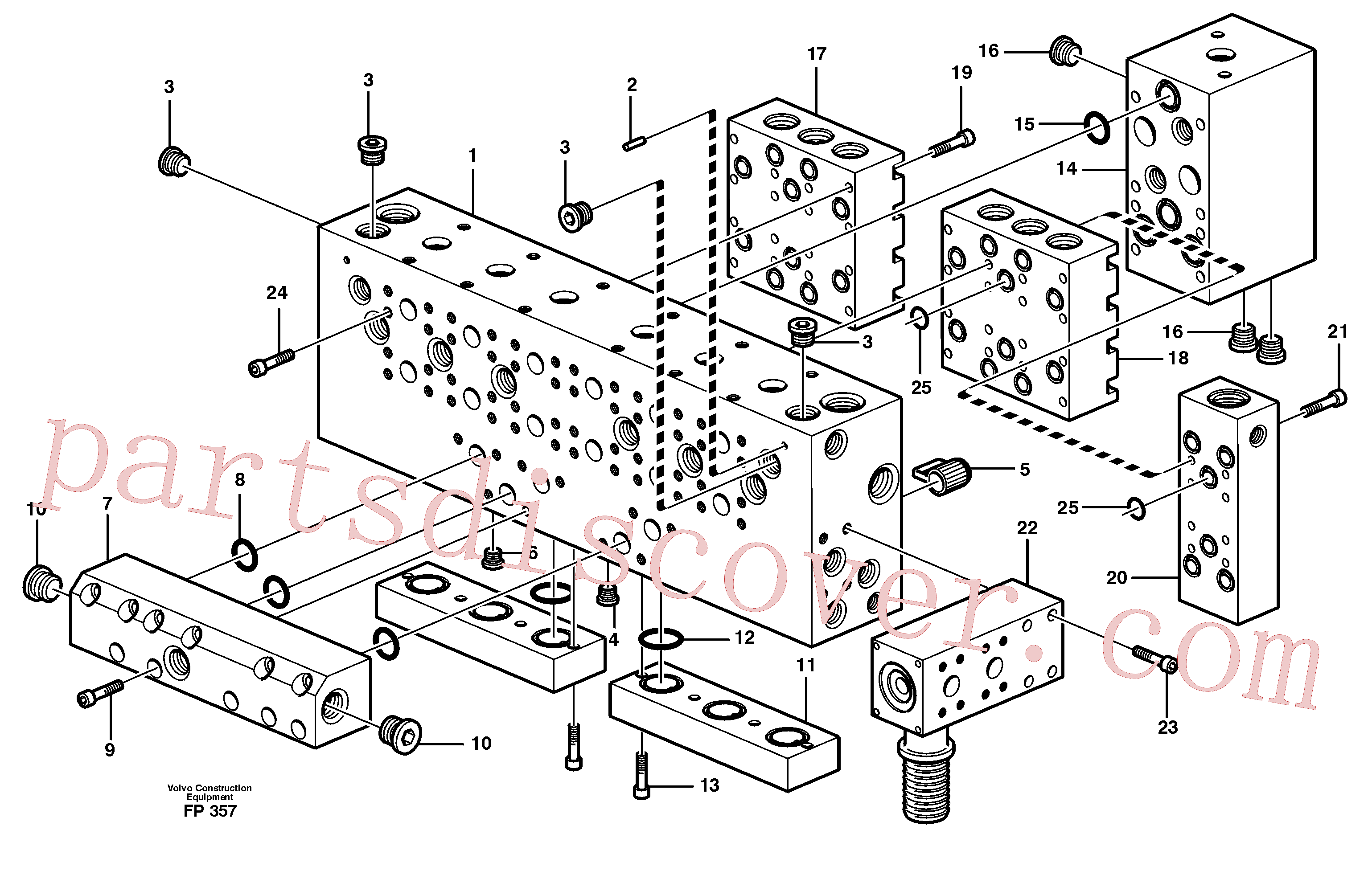 VOE14342720 for Volvo Main valve assembly, assembly block(FP357 assembly)