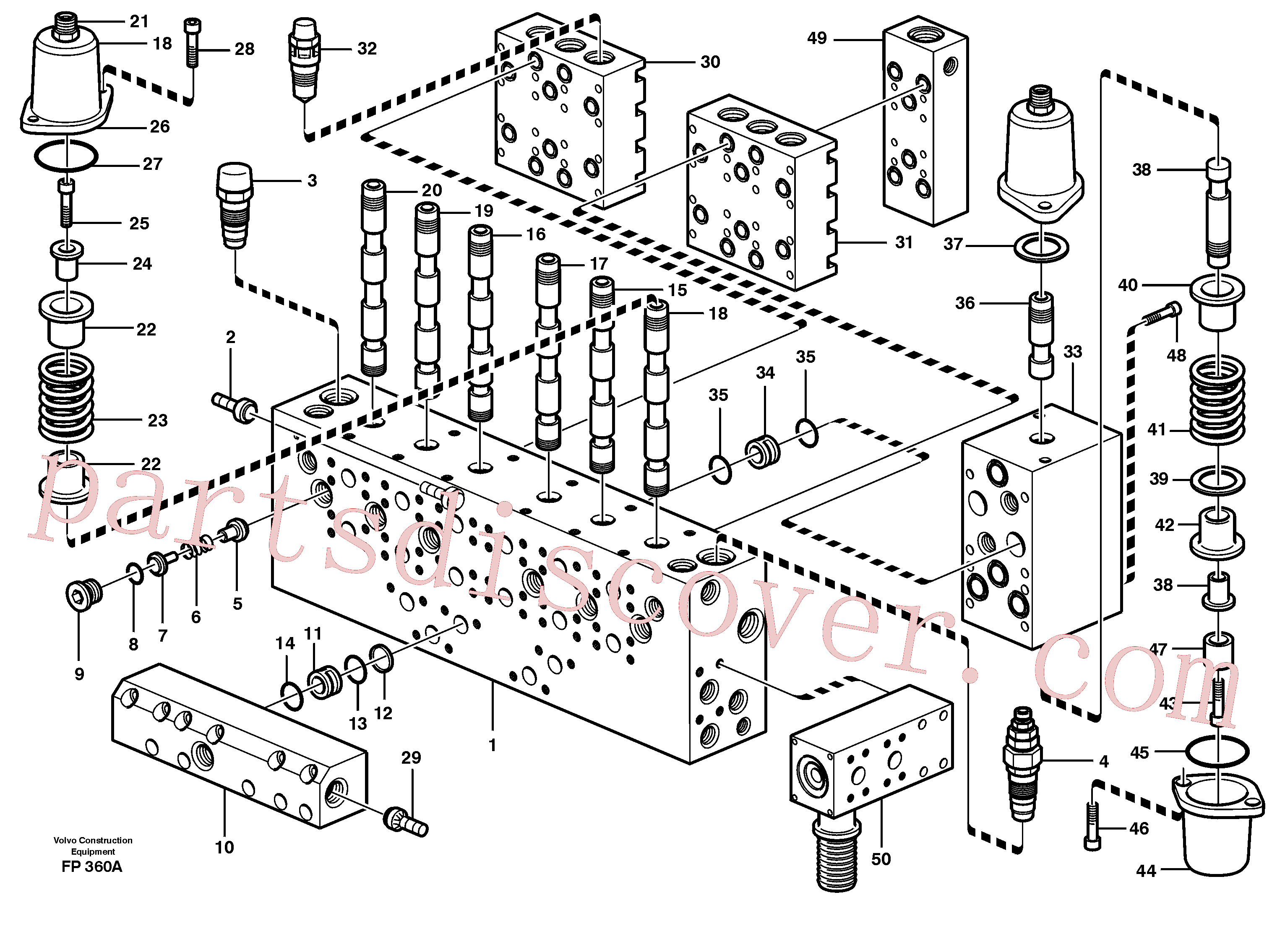 VOE14341287 for Volvo Main valve assembly, valves(FP360A assembly)