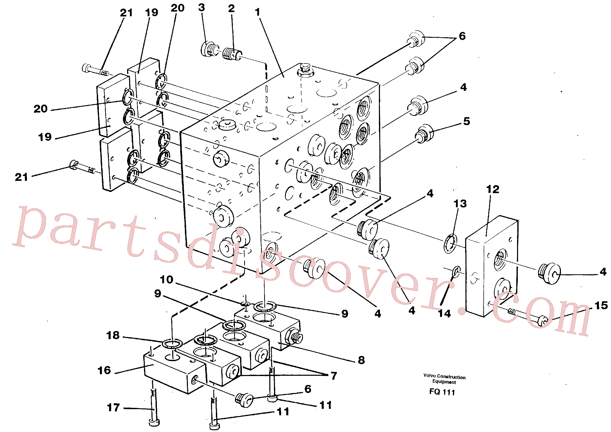 VOE14024363 for Volvo Slew valve assembly block(FQ111 assembly)