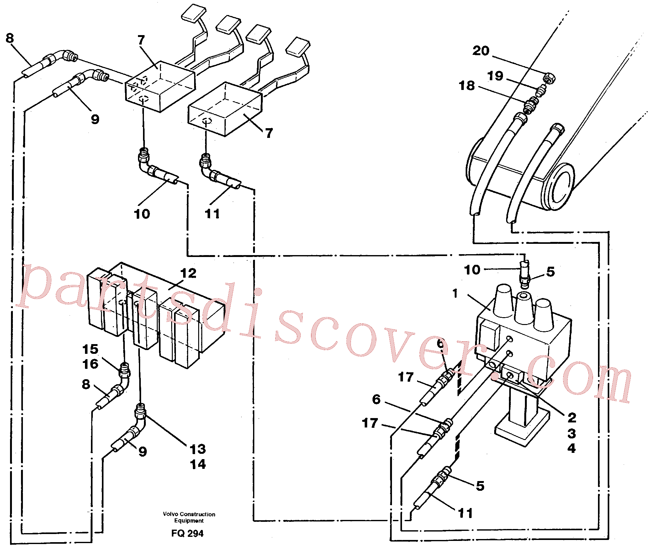 VOE14012404 for Volvo Slope bucket/rotator equipment for mono-boom in base machine(FQ294 assembly)
