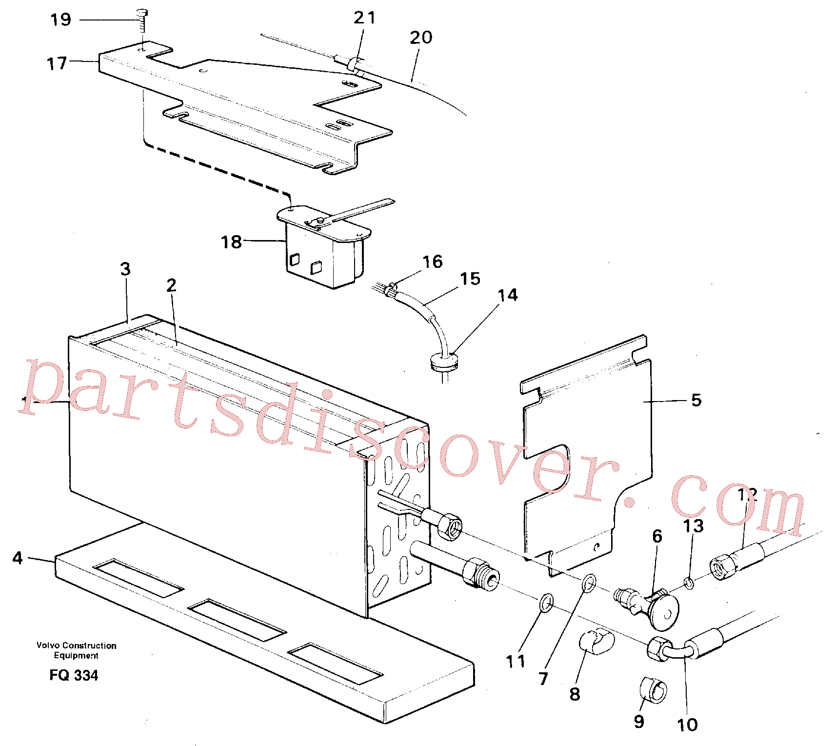 VOE14210342 for Volvo Evaporator with fitting parts Cooling agent R12(FQ334 assembly)