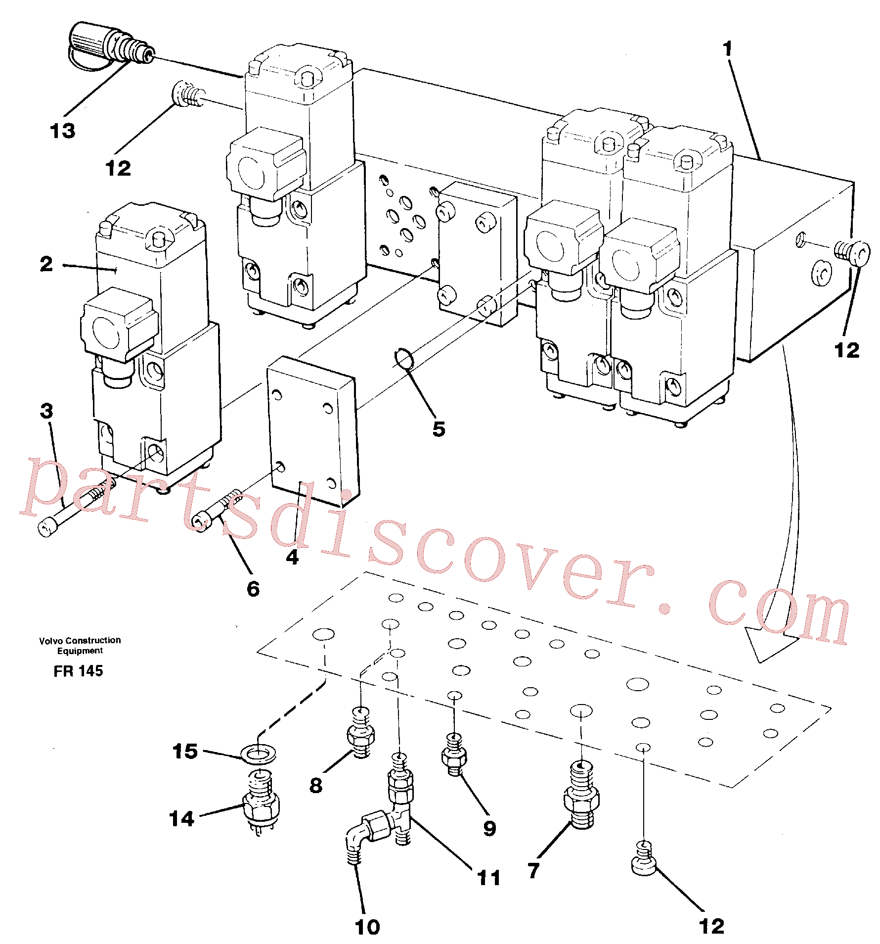 VOE11716048 for Volvo Stop control block(FR145 assembly)