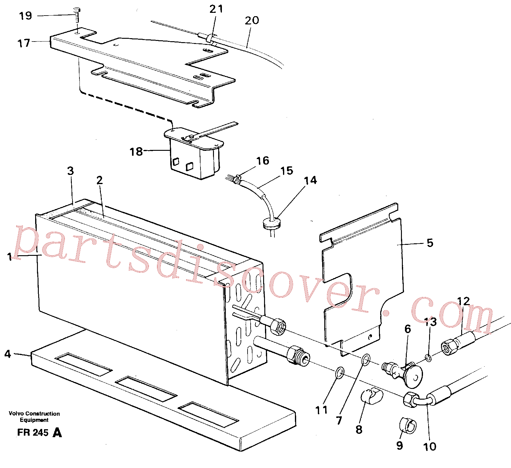 VOE14247154 for Volvo Evaporator with fitting parts Cooling agent R134 A(FR245A assembly)
