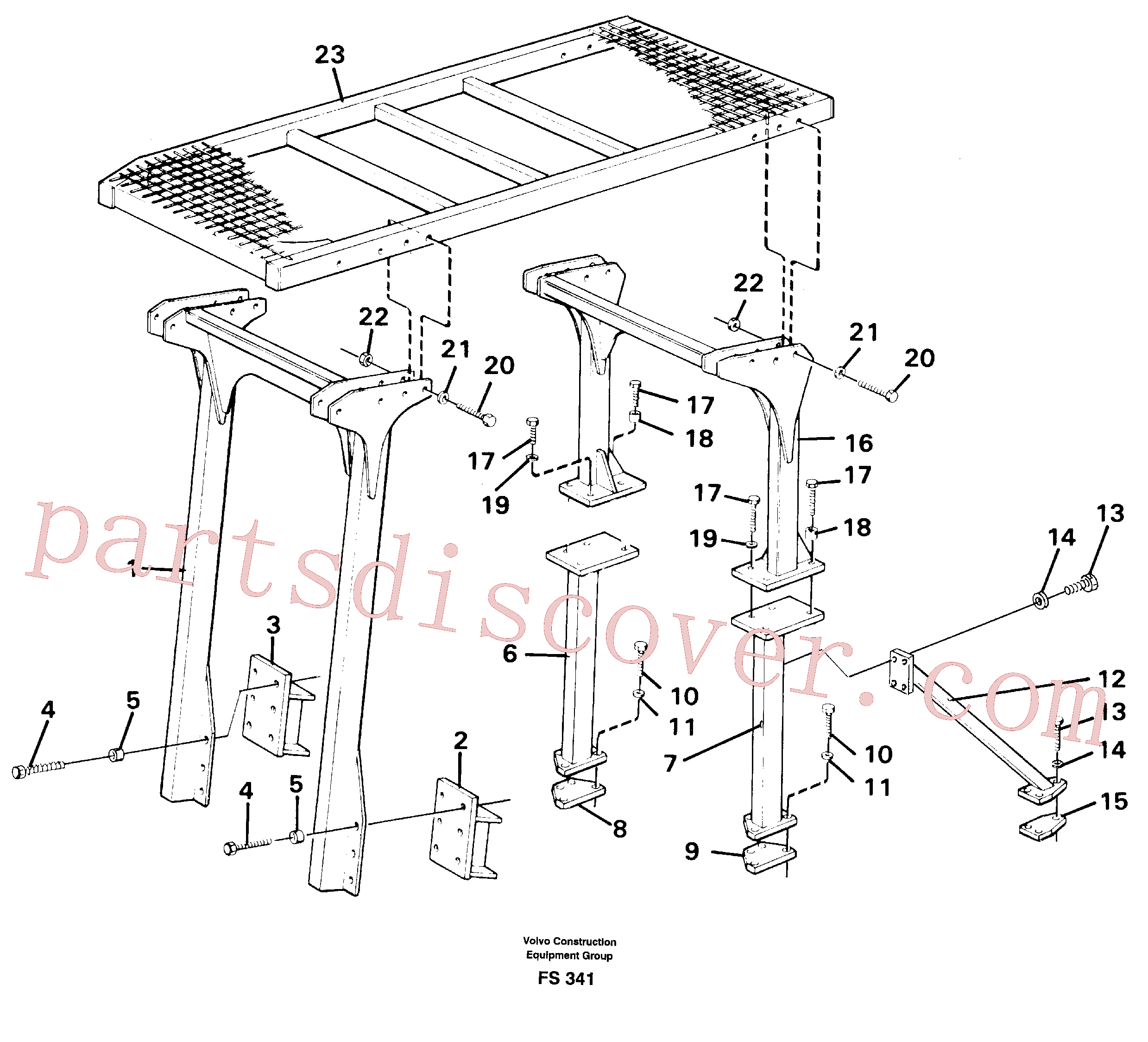 VOE14287029 for Volvo Protection over drivers cab(FS341 assembly)